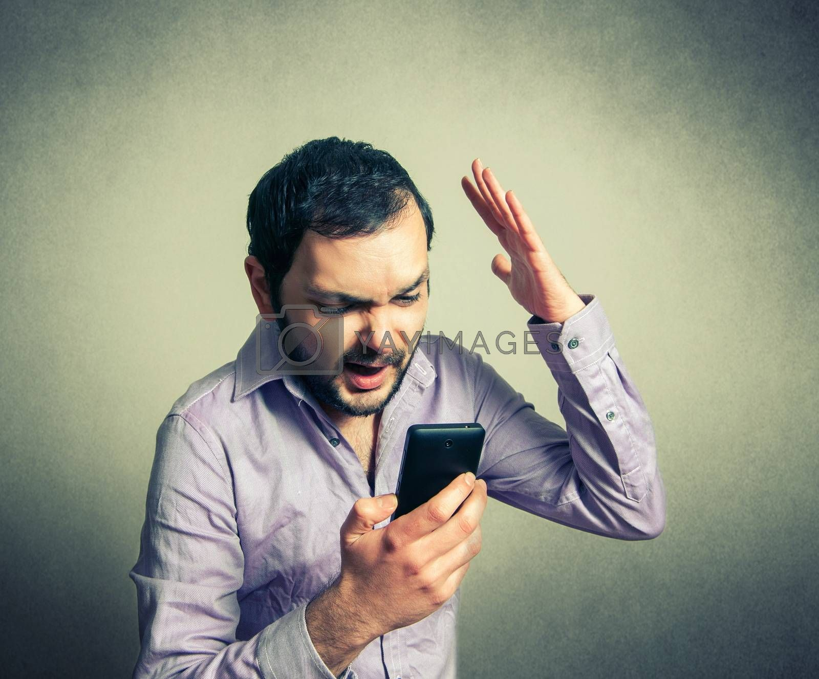 angry man shouting on the phone