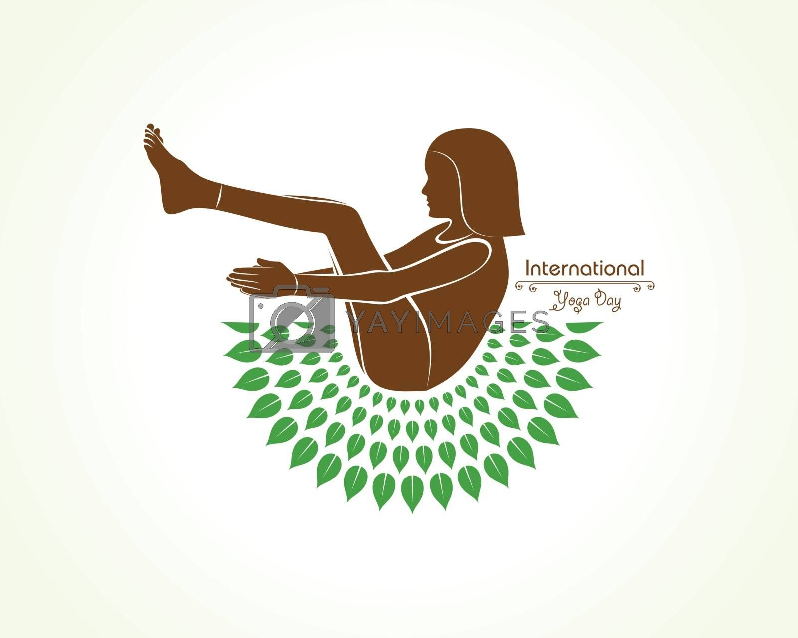 A Girl doing yoga for International Yoga Day observed on 21st June by graphicsdunia4you