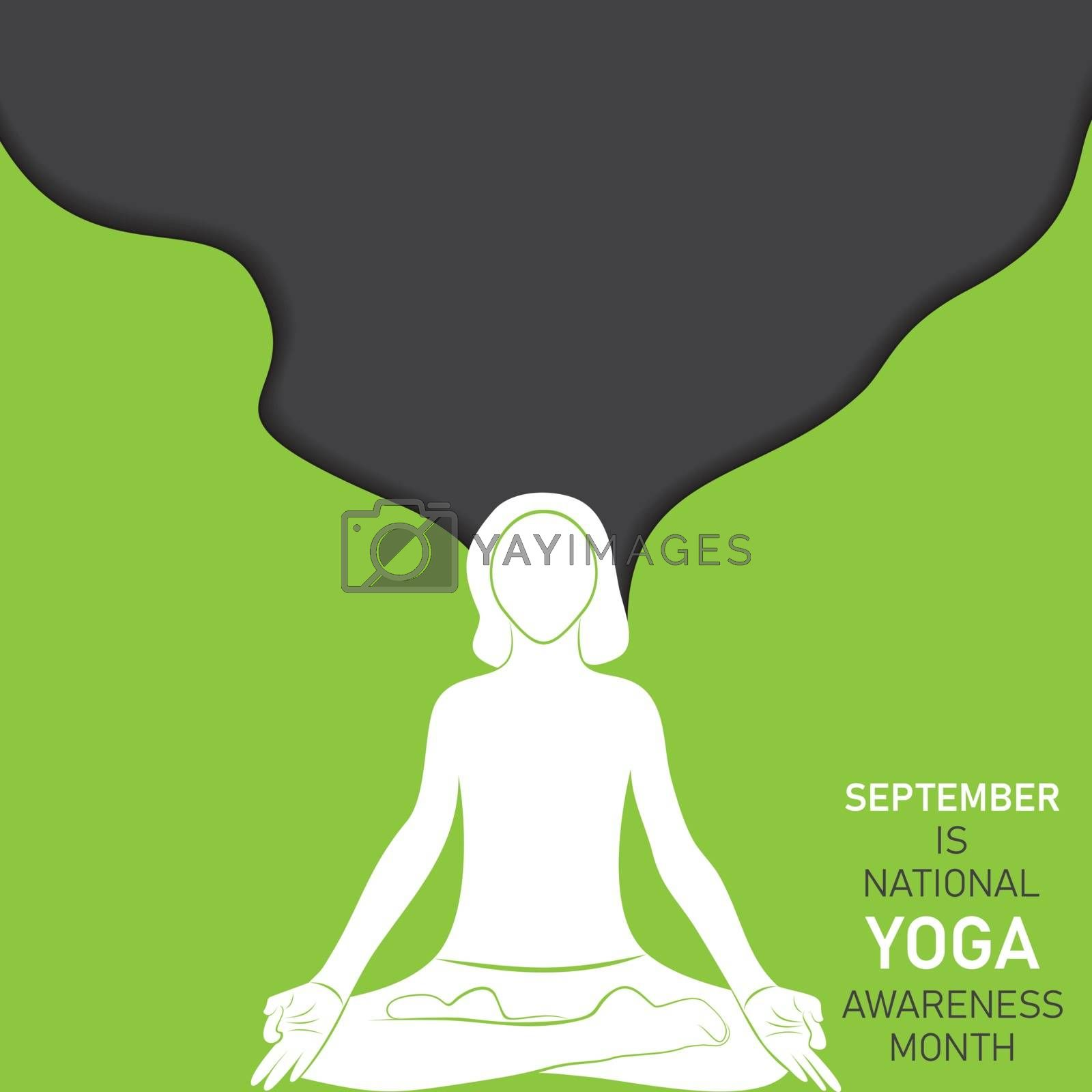 National Yoga Awareness month observed in September every year by graphicsdunia4you