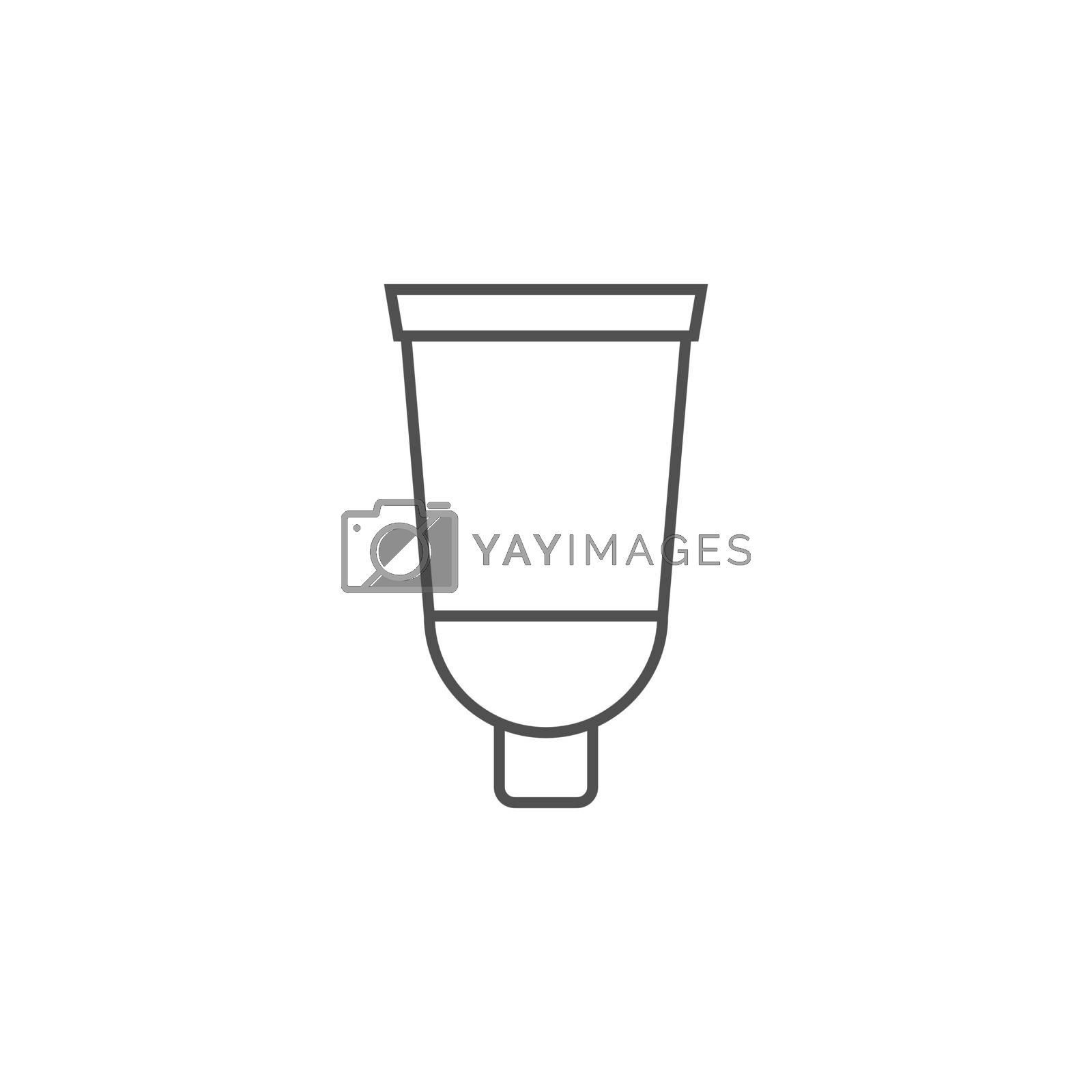 Cream Tube Related Vector Line Icon. Drugs. Isolated on White Background. Editable Stroke.