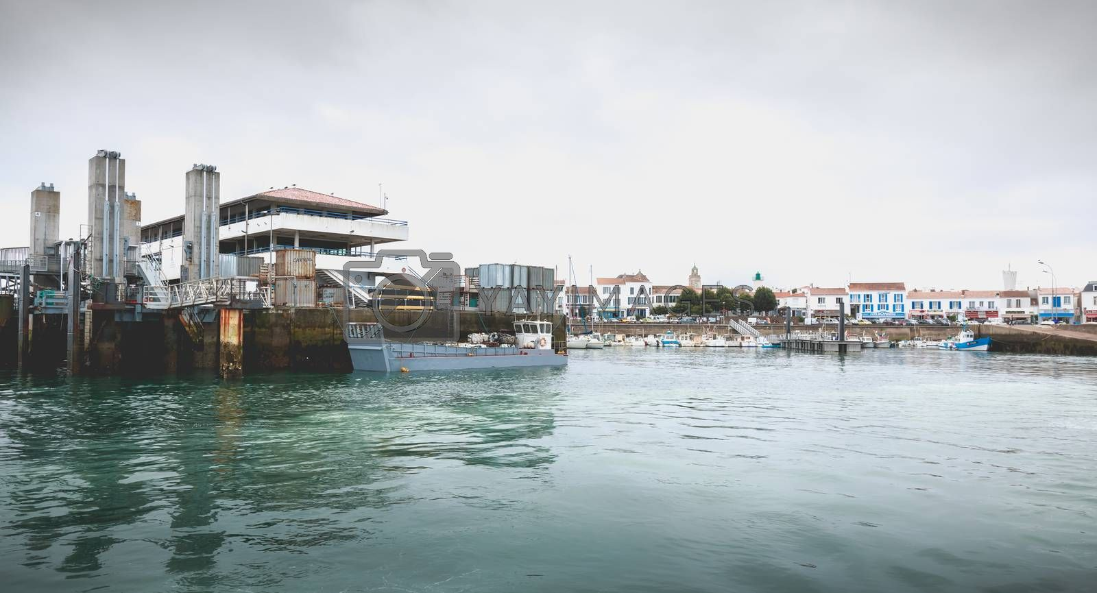 view of the ferry terminal of the island of Yeu  by AtlanticEUROSTOXX