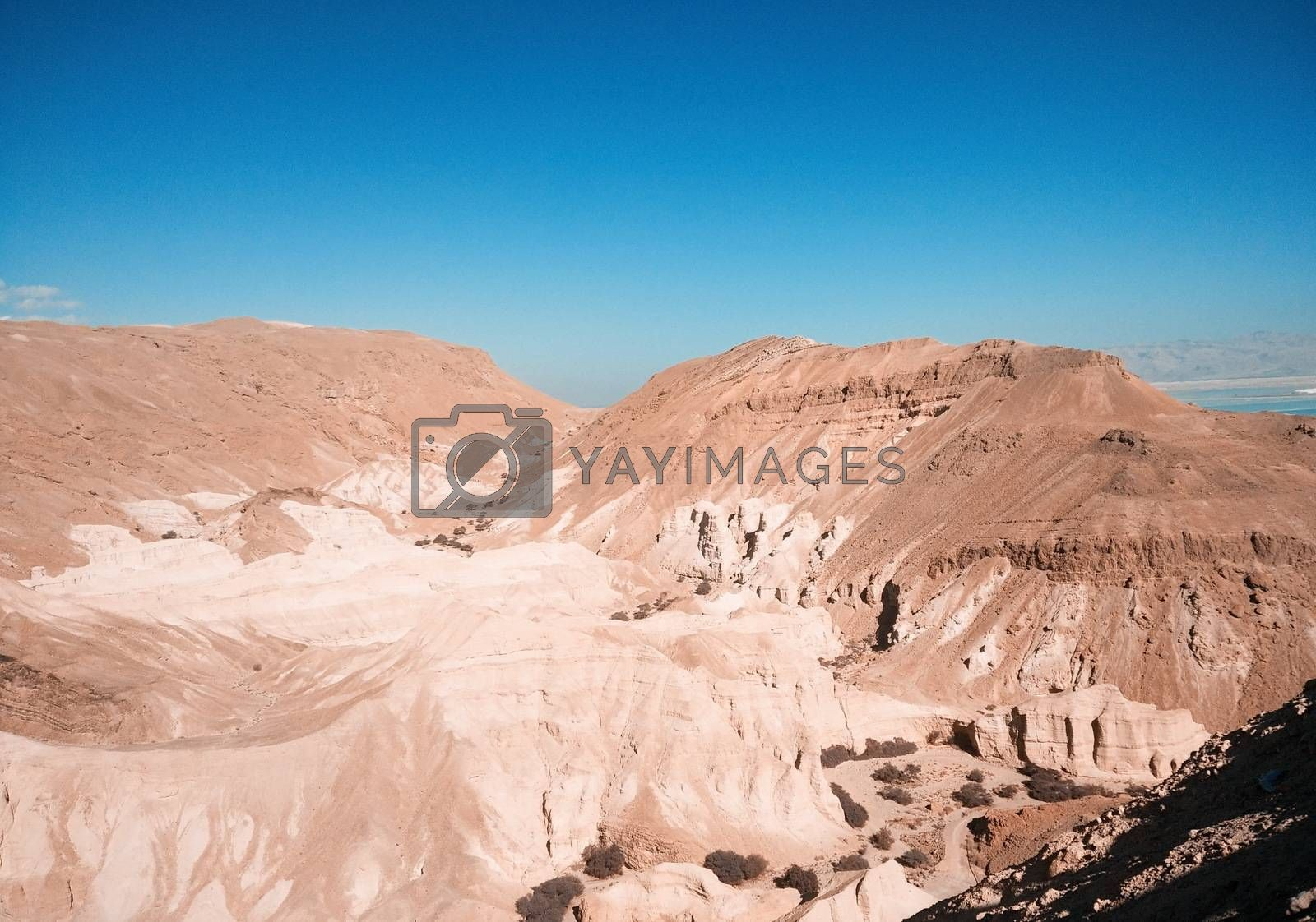 Mountains in Israel Negev desert. Dead Sea region