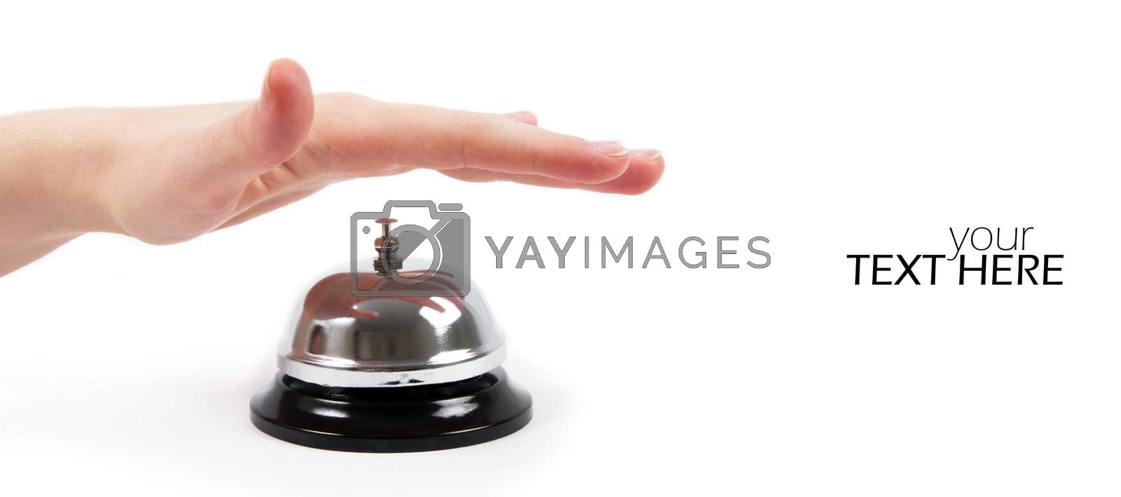 Ring bell with the copy space