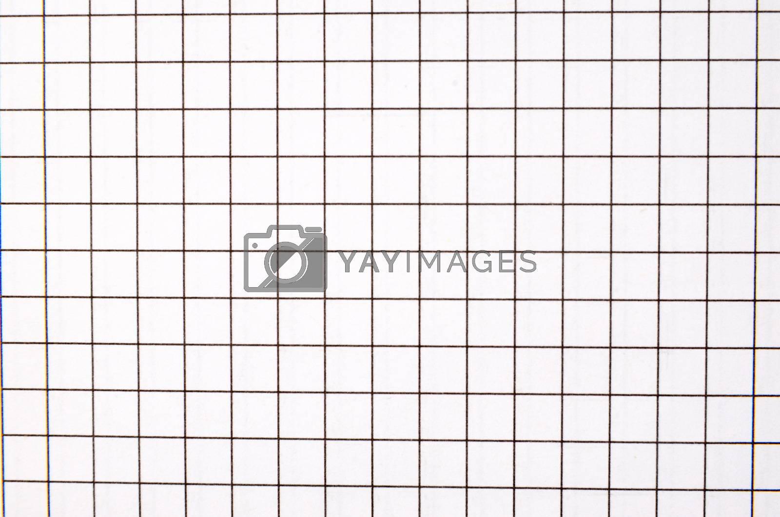 School note book sheet view closeup