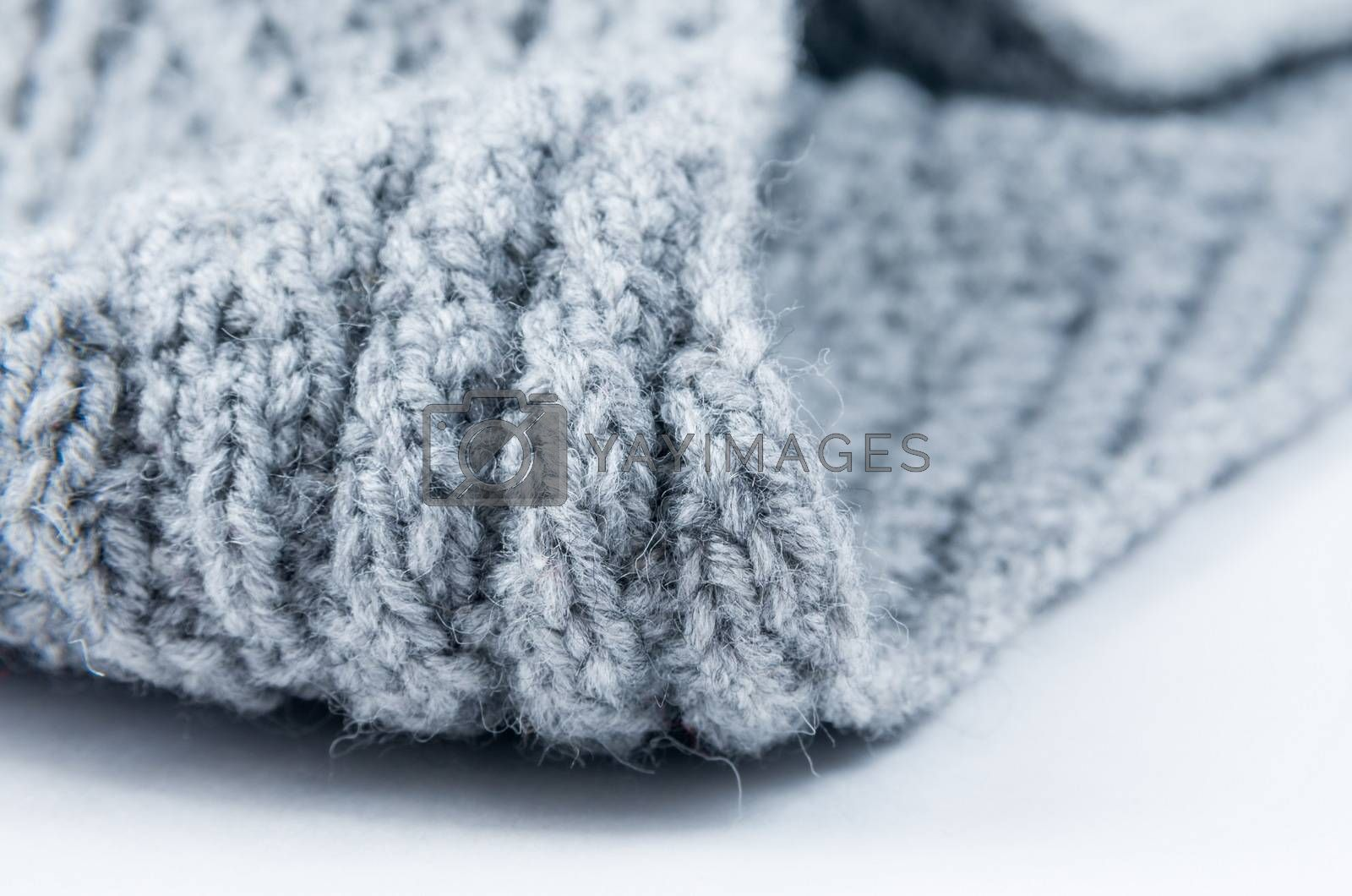 Closeup of the knitted scarf