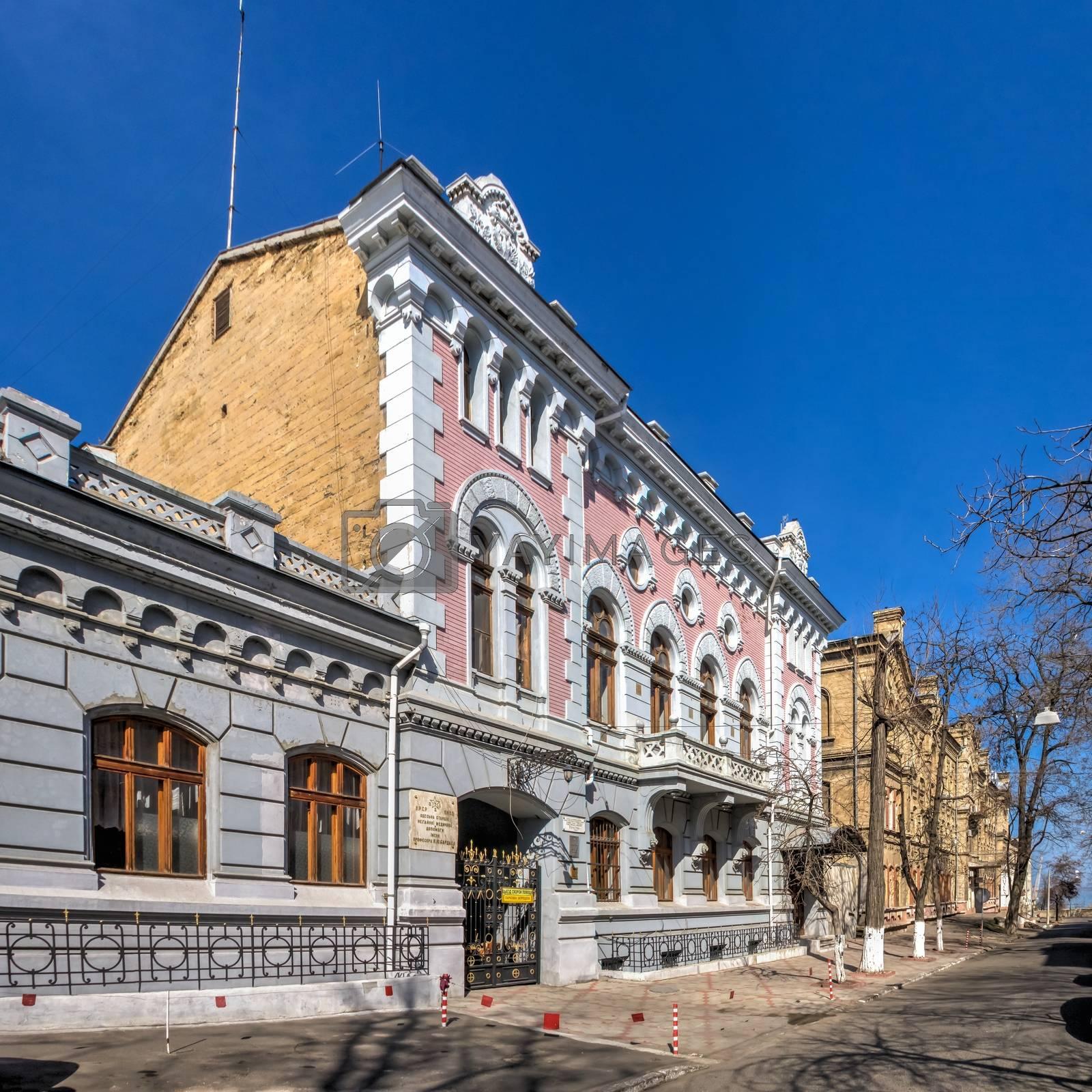 Odessa, Ukraine 03.09.2020. City Ambulance Station in Odessa, Ukraine, on a sunny spring day