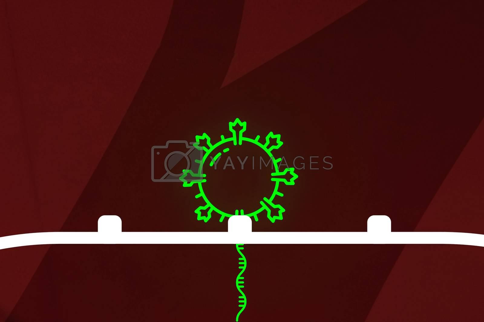 An image of the virus. Drawing a coronavirus illustration.