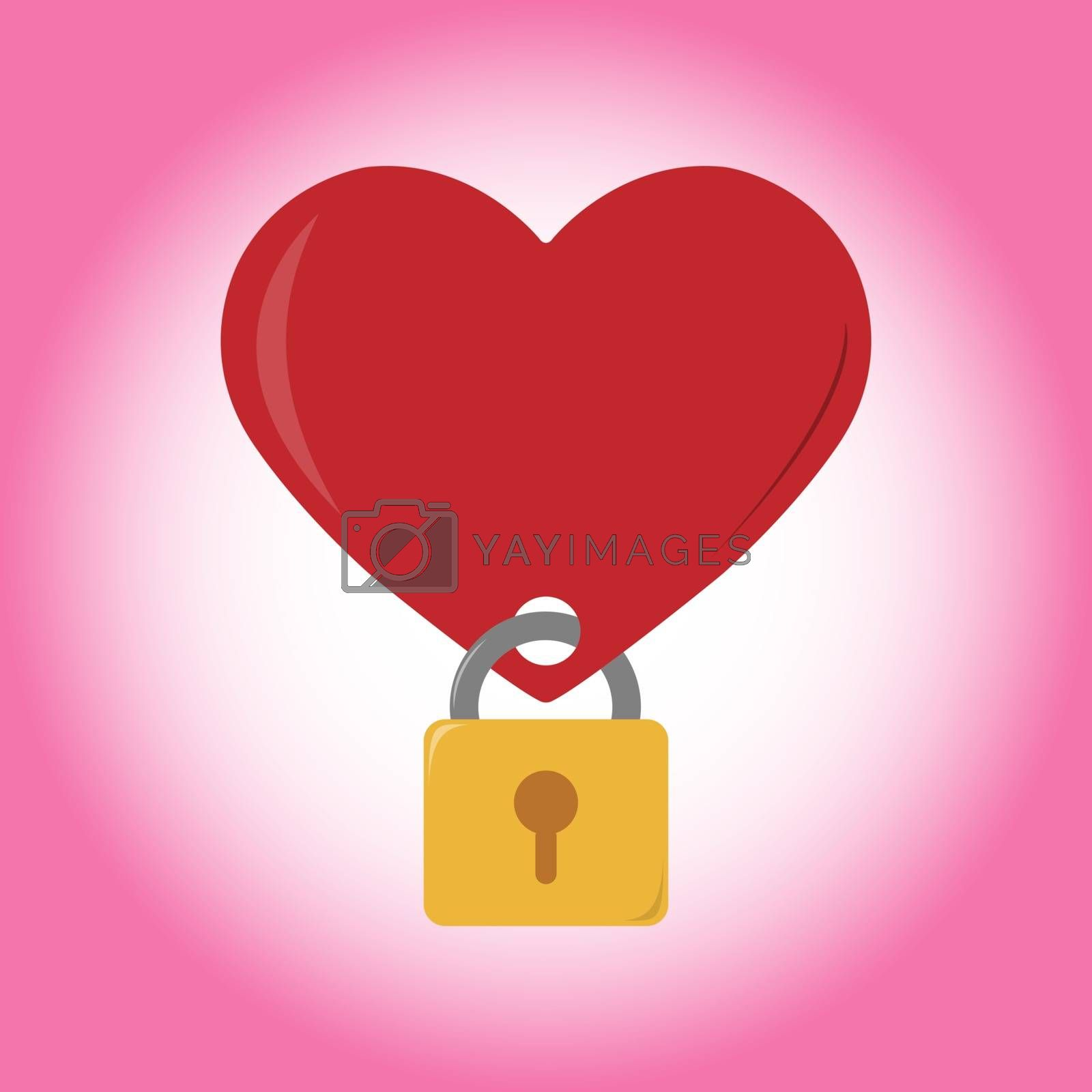 heart on lock and key, congratulations, Valentine's day