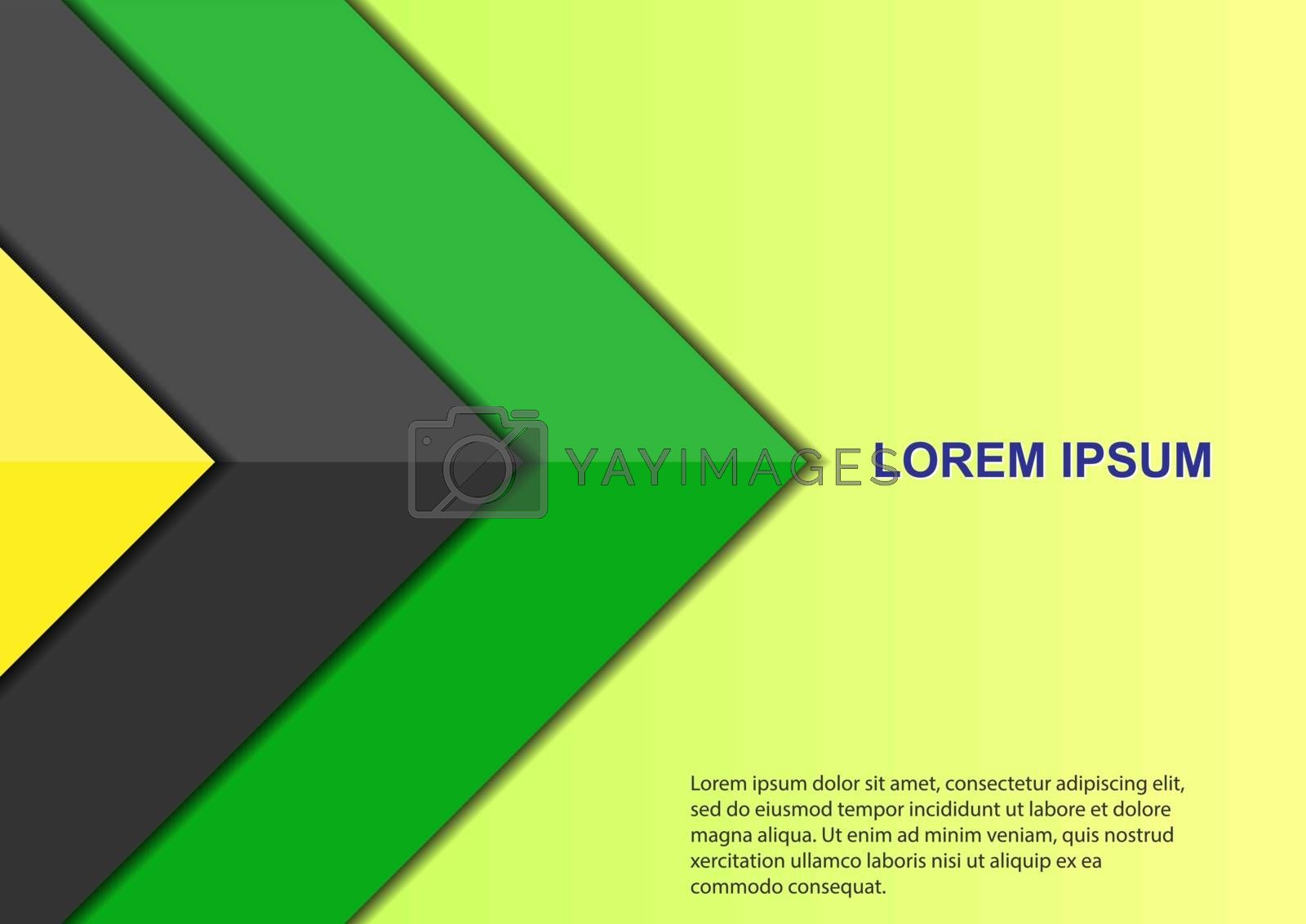 Design template for the cover of a stylish brochure