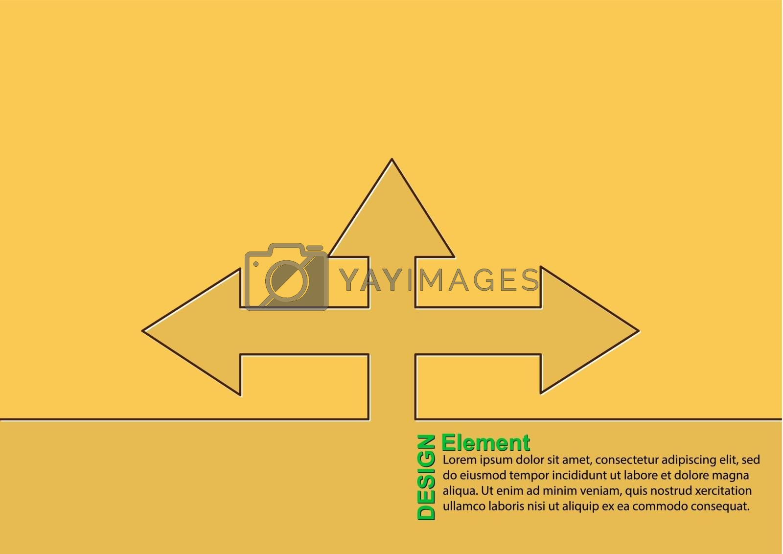 Infographics, Graphic design. Direction of movement or stage of development for schematic illustration