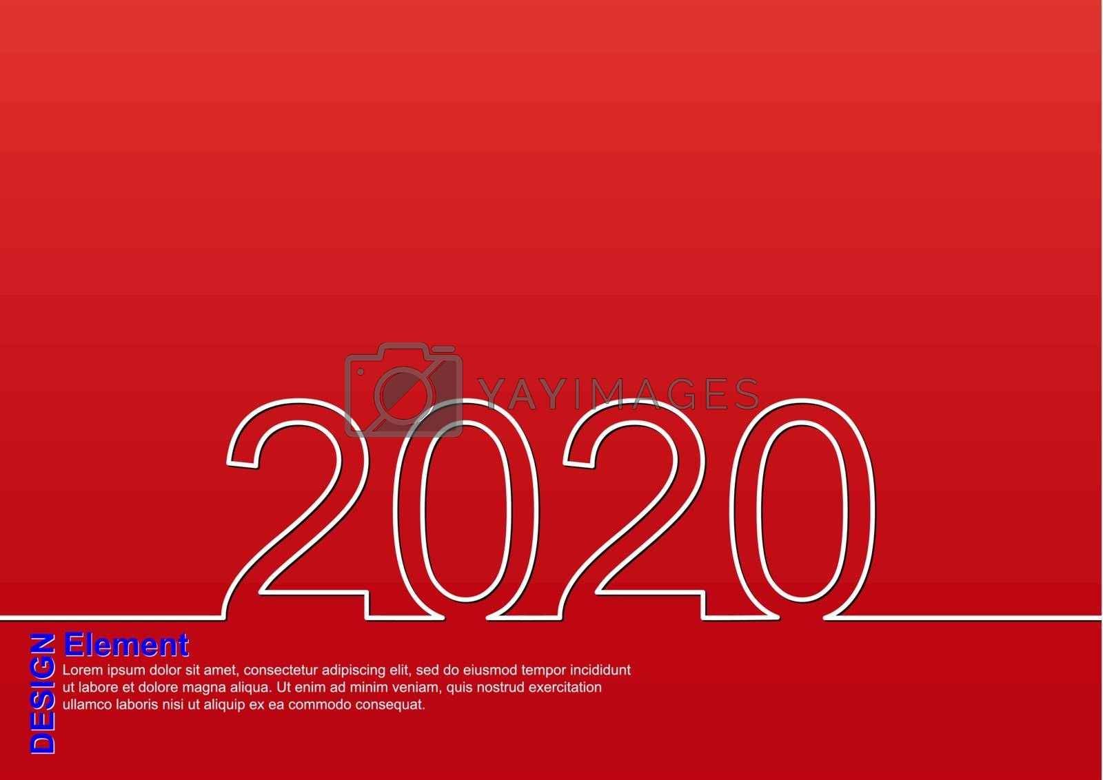 Holiday greetings with the new year 2020