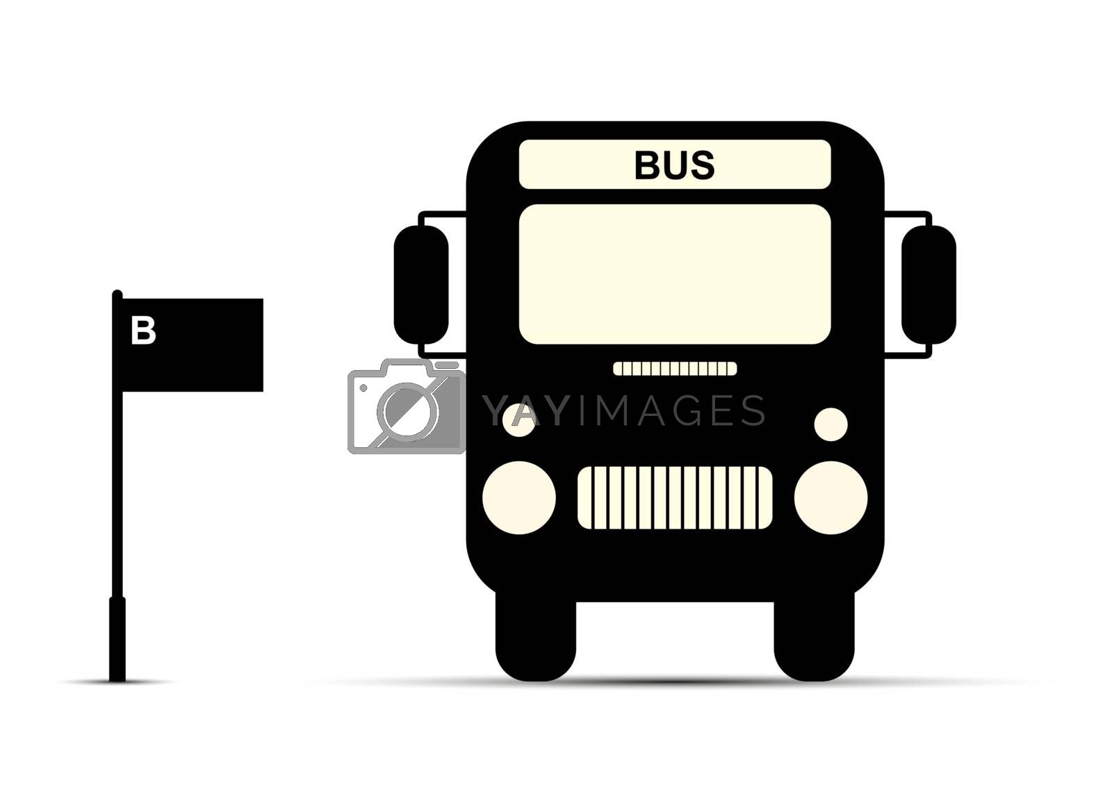 Flat pattern, Shuttle bus at the bus stop