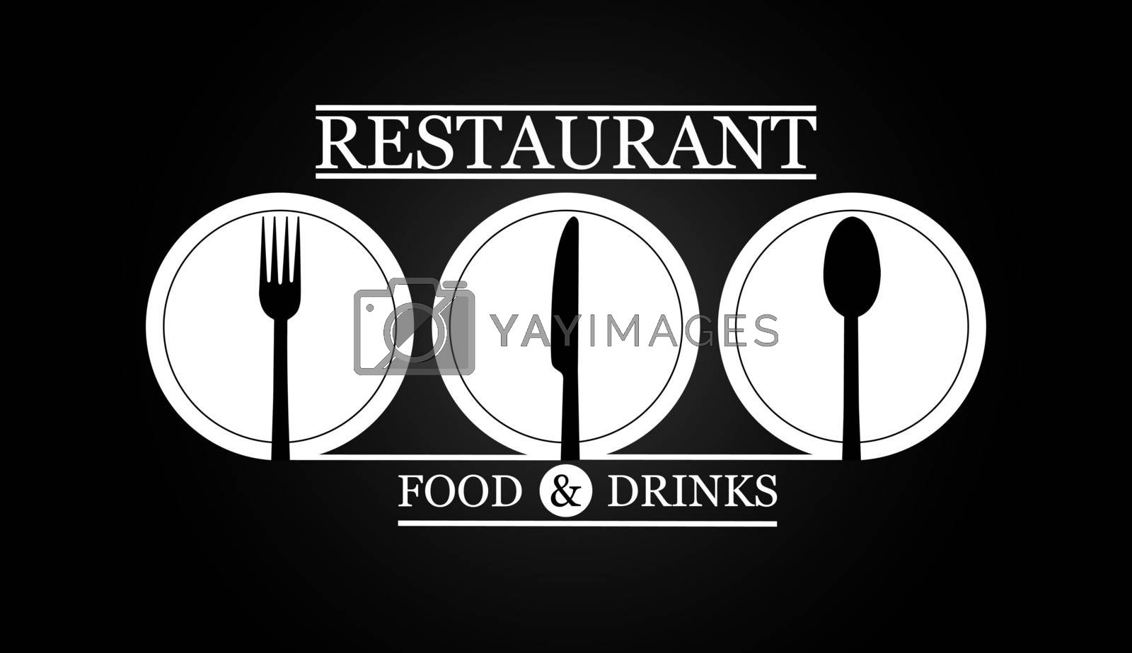 Logo for the menu of the restaurant gastro service or catering