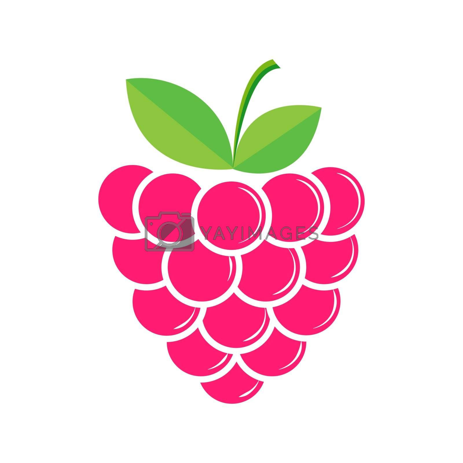 Raspberry berry, flat style for design and decoration