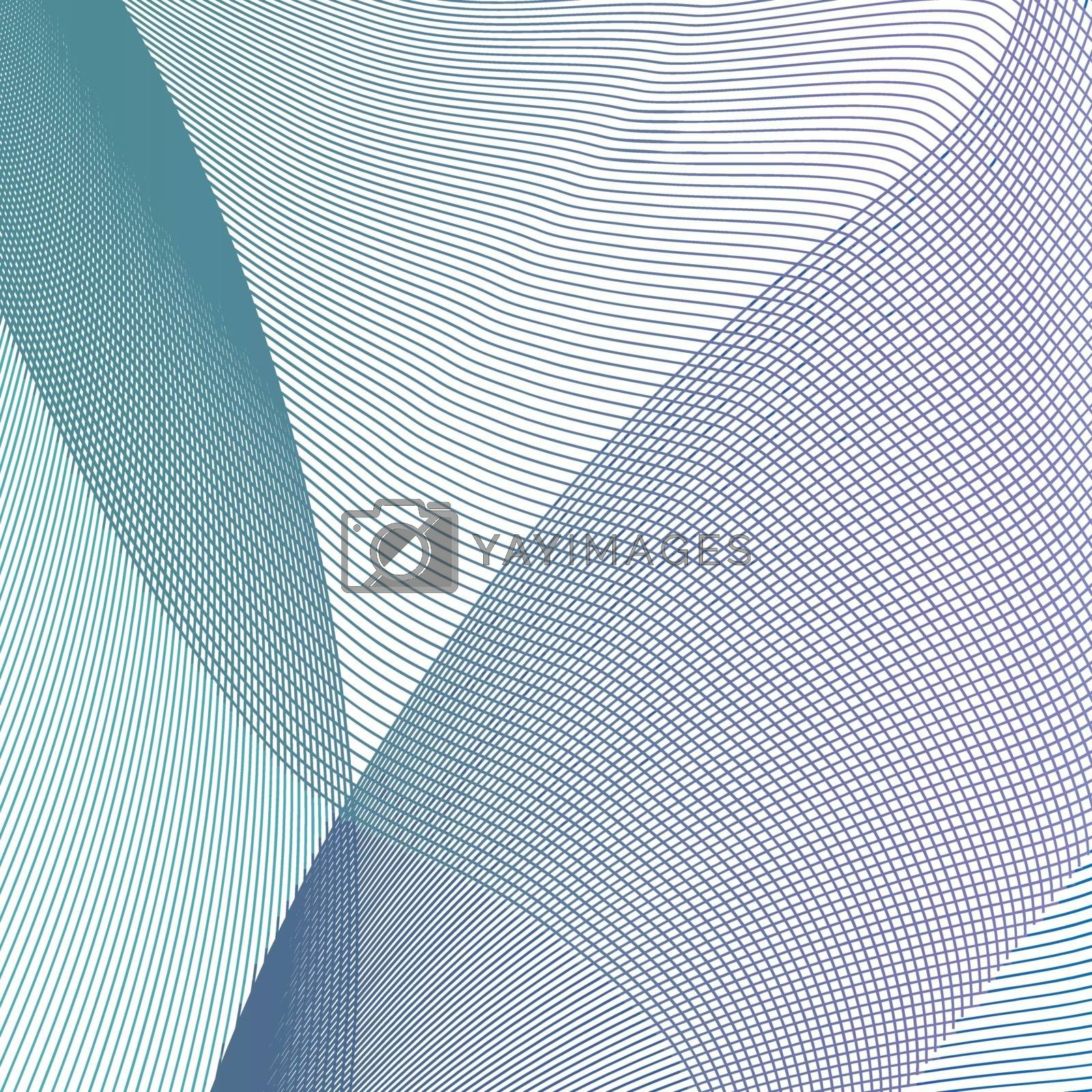 Abstract background with lines and balls for decoration and design