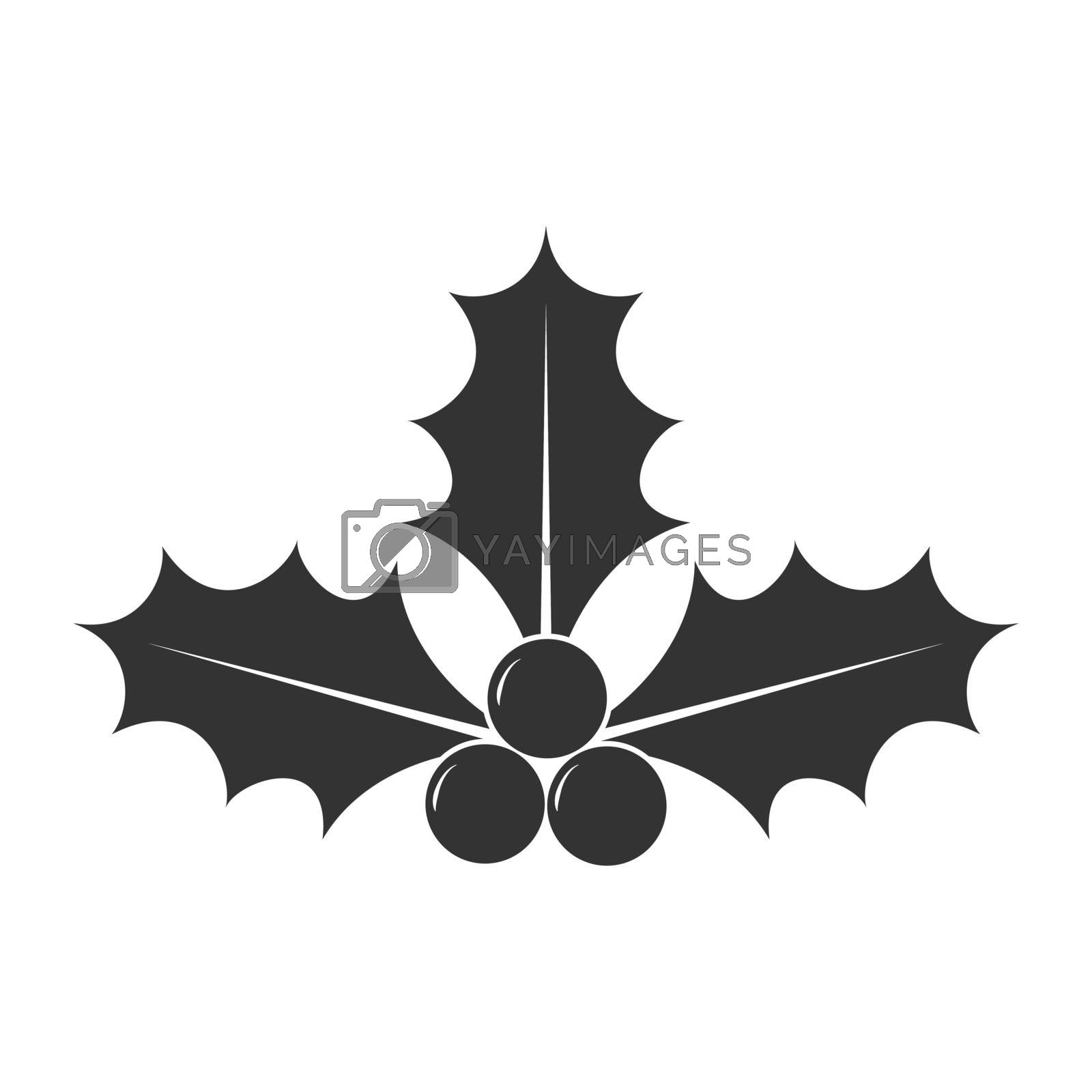 Icon of New Year's decoration for design and decoration, flat style