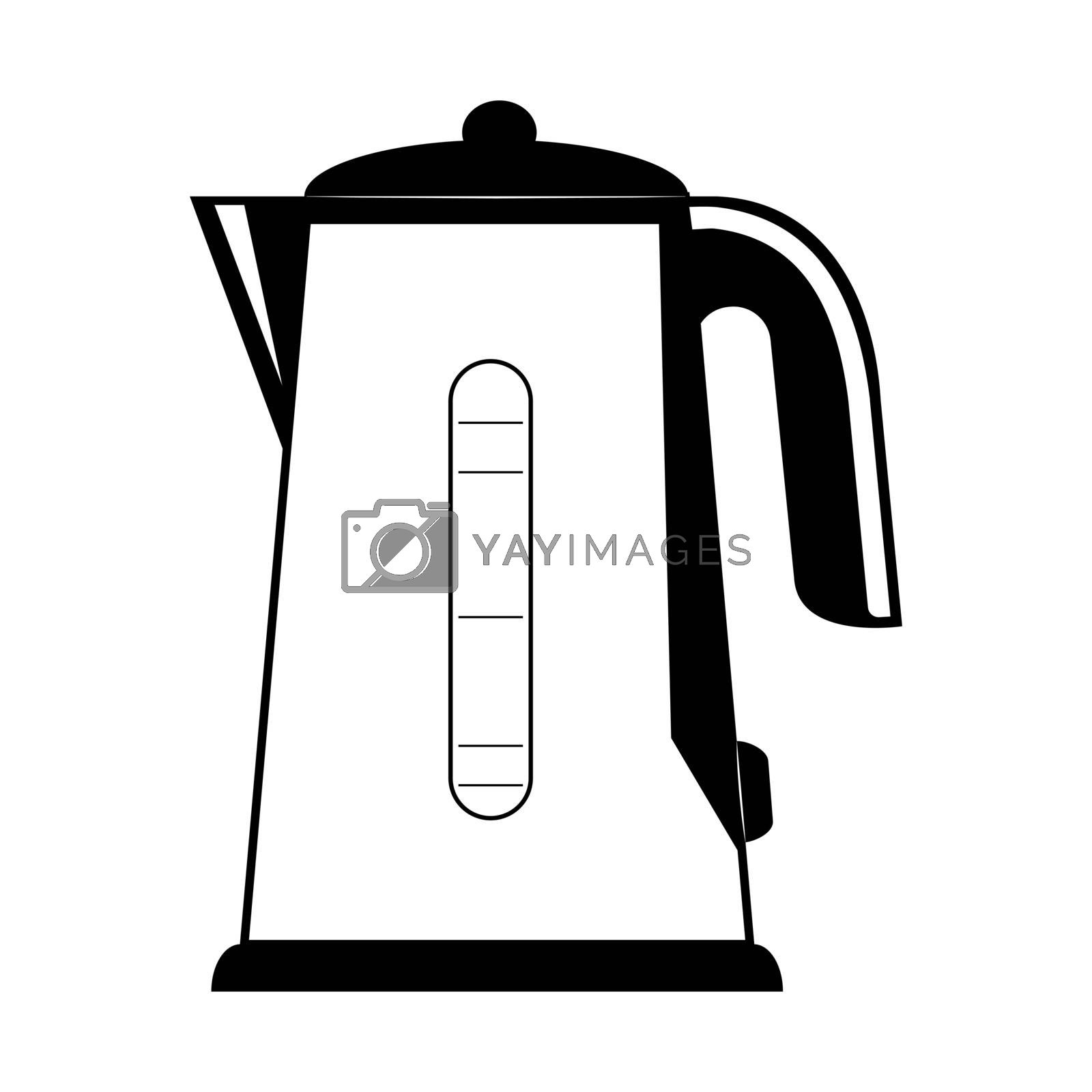 Home appliances, simple drawing of electric kettle for boiling water