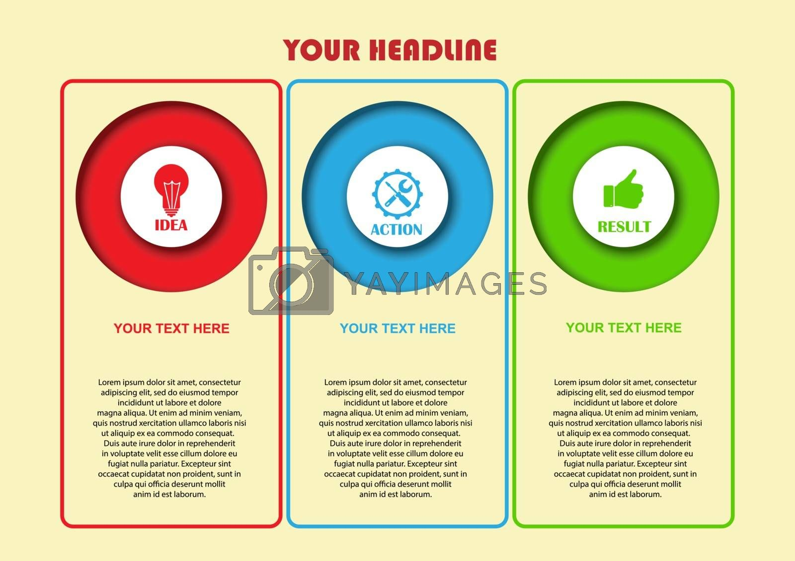 Infographics for visual design of business projects, strategies and planning