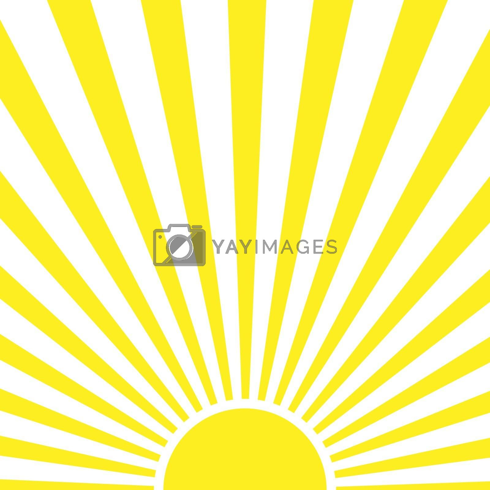 Rays of the rising sun for design and decoration