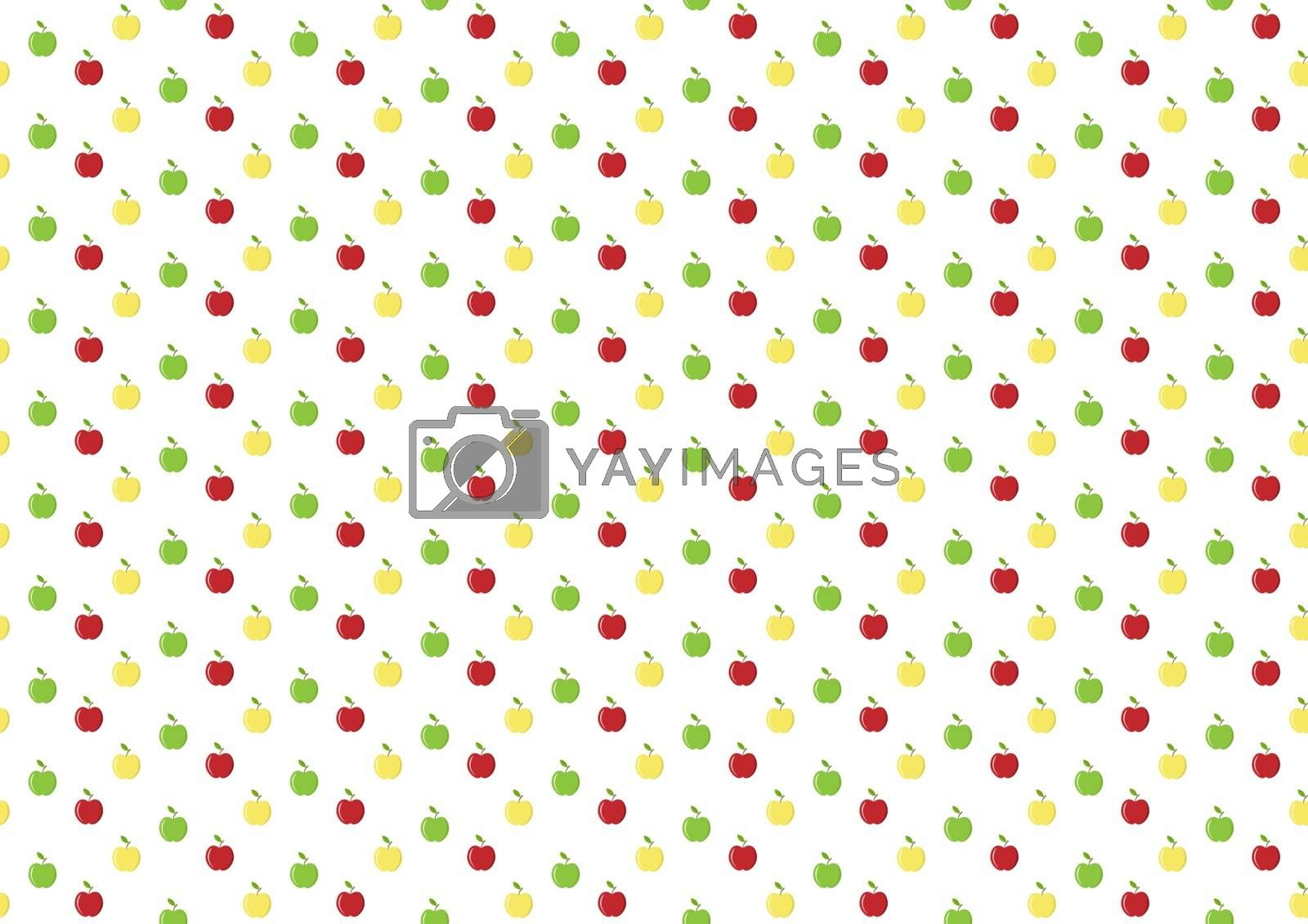 Abstract simple Apple background, simple flat design