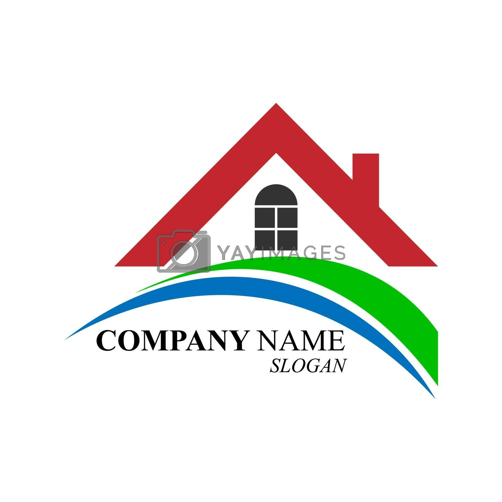 Blank for the logo of a real estate company and a construction company