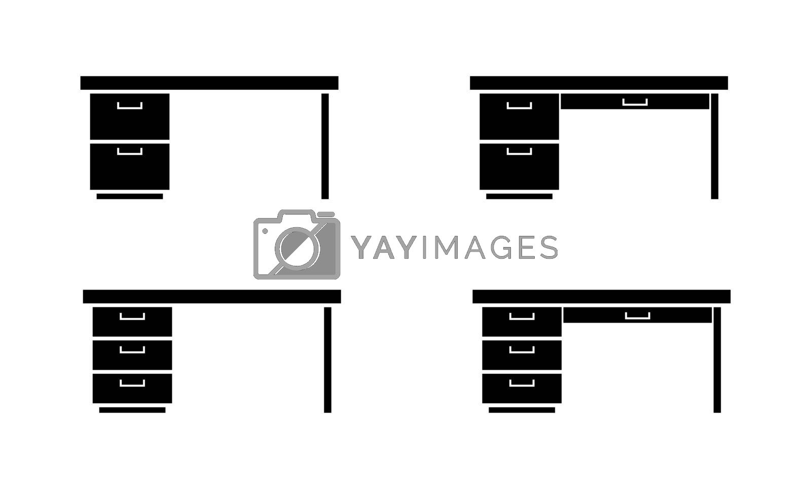 Royalty free image of Set of templates for design and decoration, office furniture, fl by Grommik