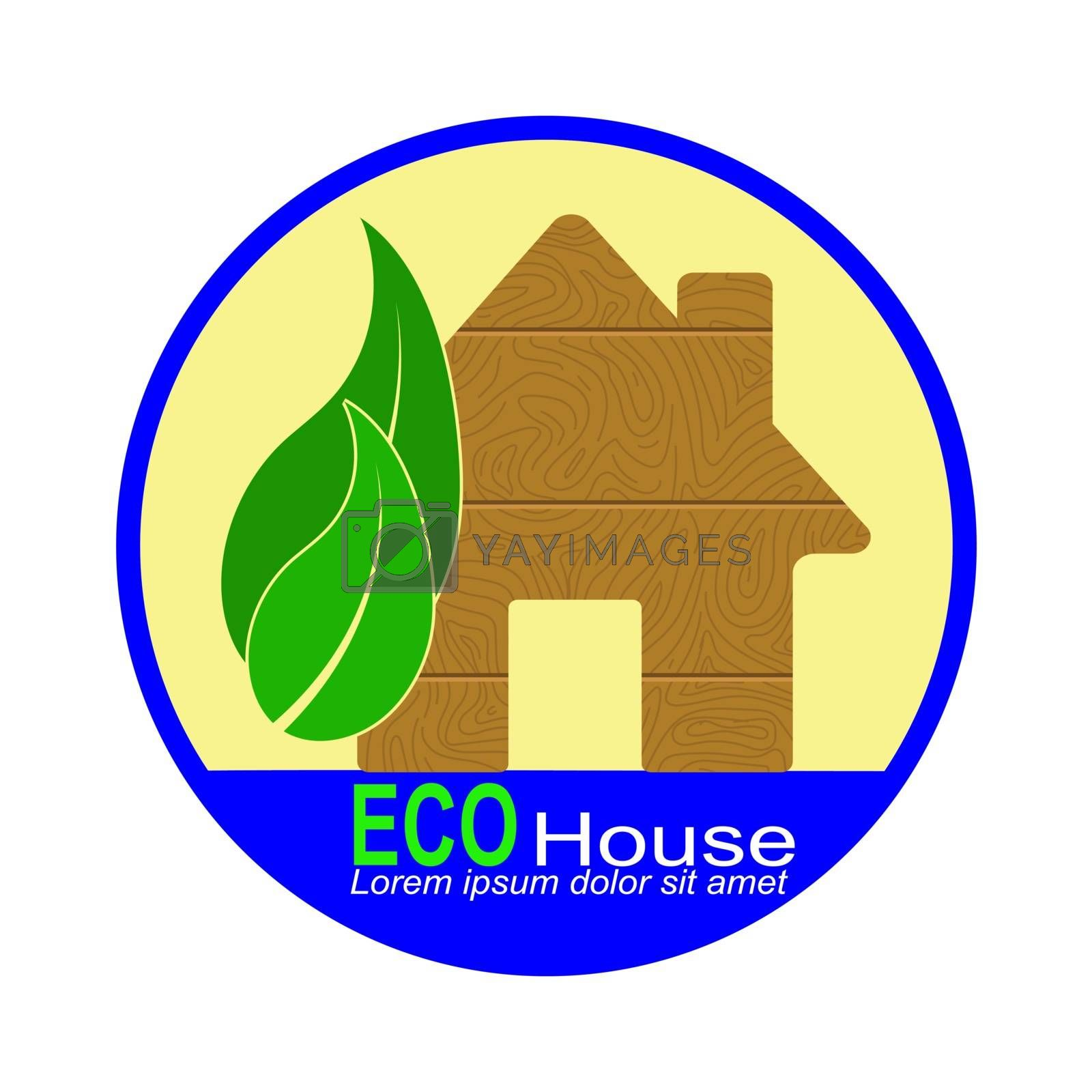 Royalty free image of Simple logo with the words ECO house by Grommik