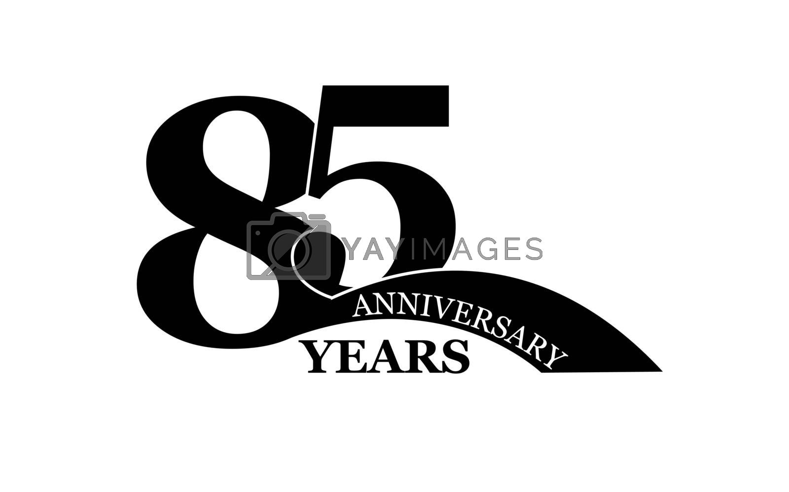 Royalty free image of 85 years anniversary, flat simple design by Grommik
