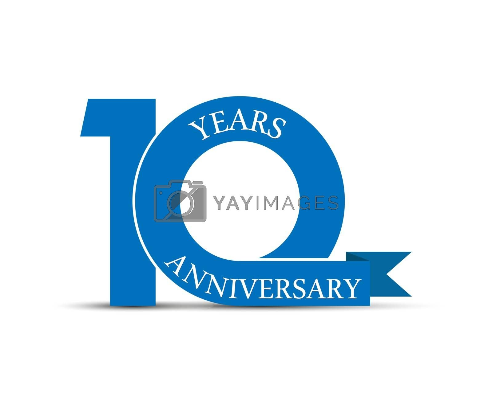 10 years anniversary, simple design, logo for decoration