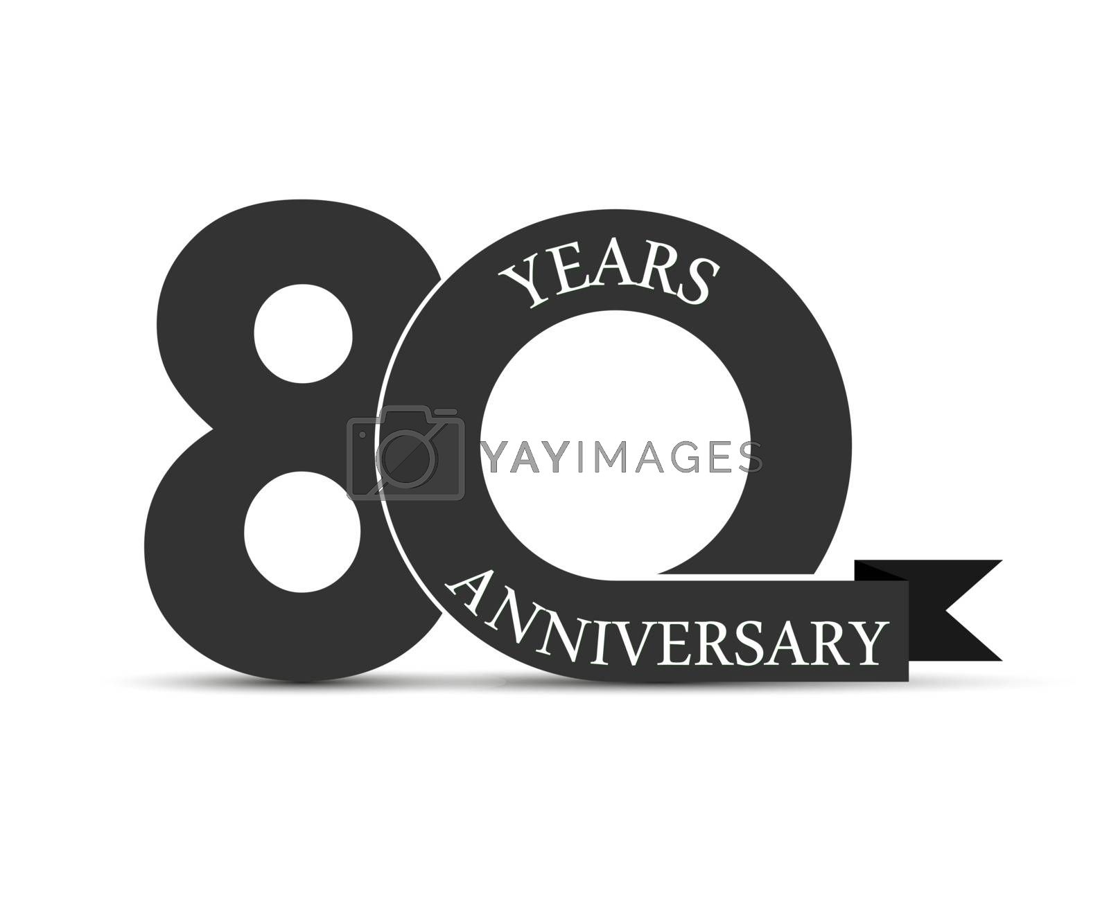 90 years anniversary, simple design, logo for decoration