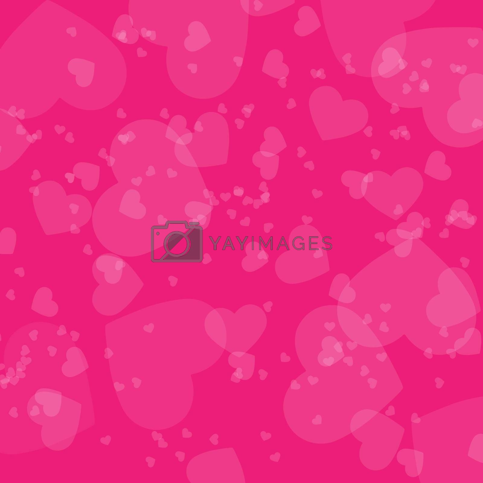 Colorful colorful festive background with hearts and circles