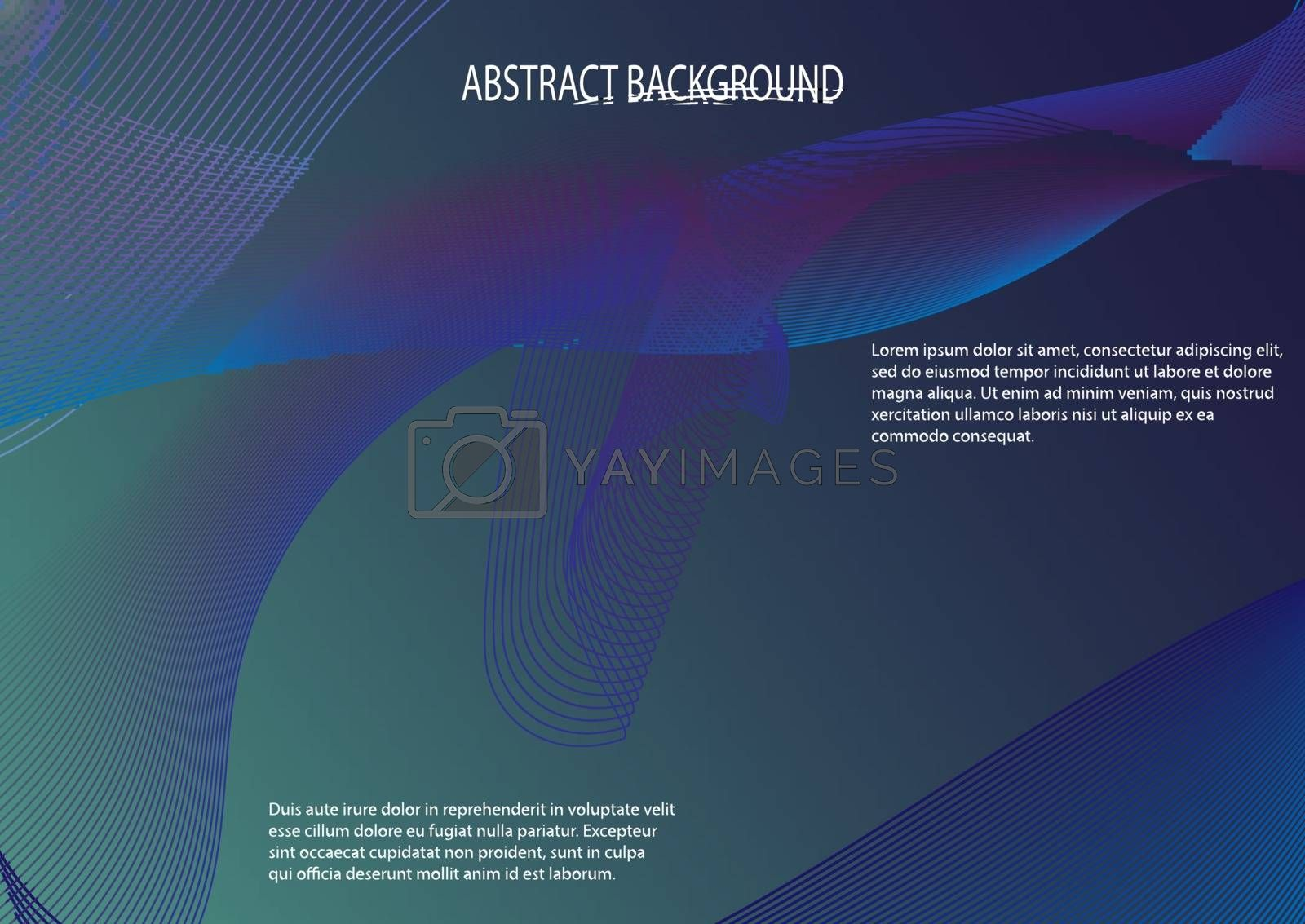 Royalty free image of Abstract background in blue for design and decoration by Grommik