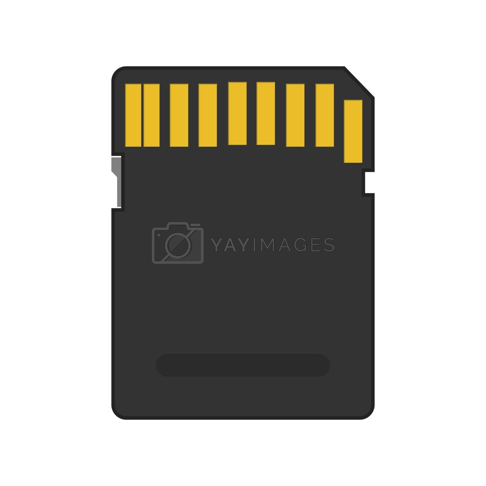 Royalty free image of Memory card for electronic devices, flat style by Grommik