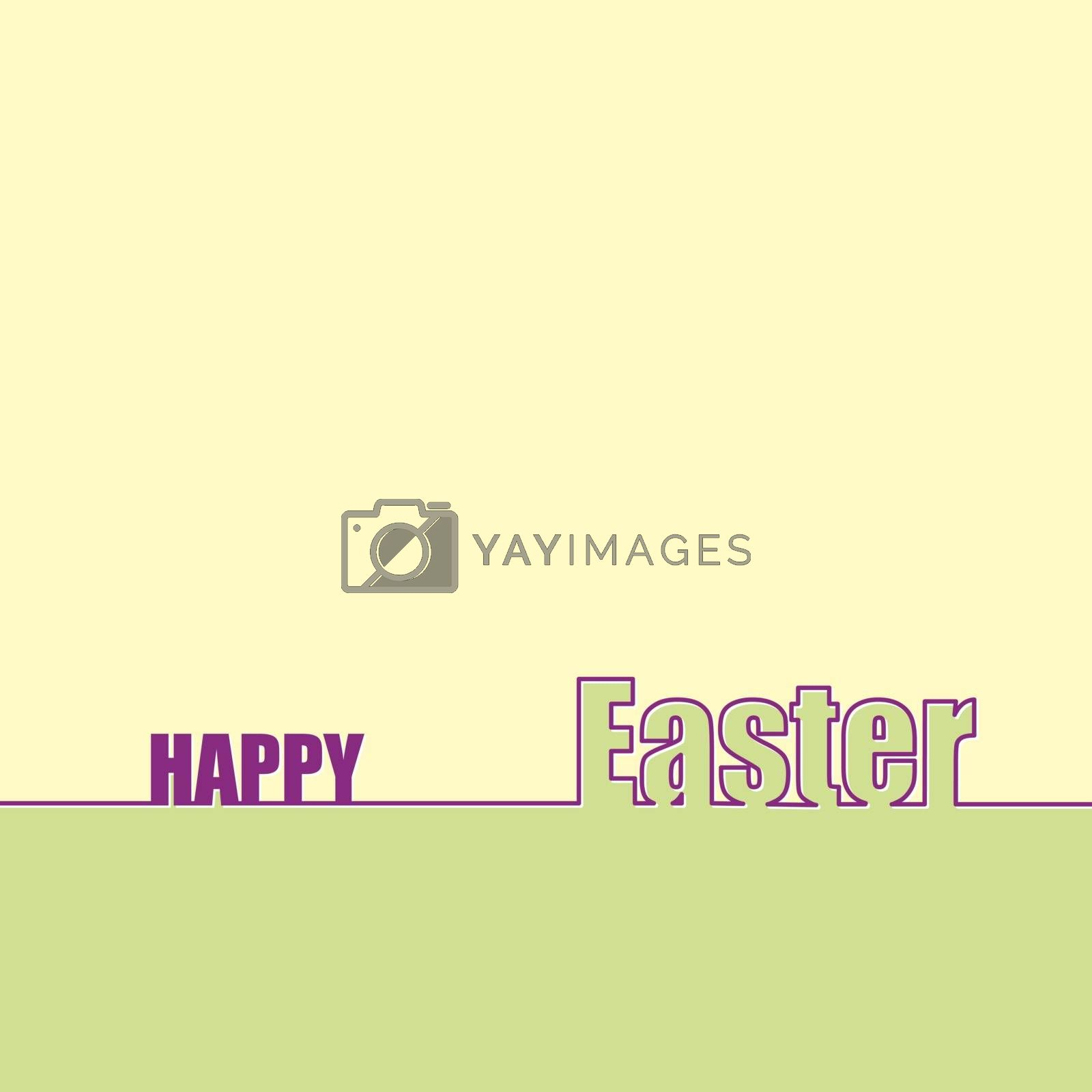 Royalty free image of Congratulations on Easter, background with the inscription happy by Grommik