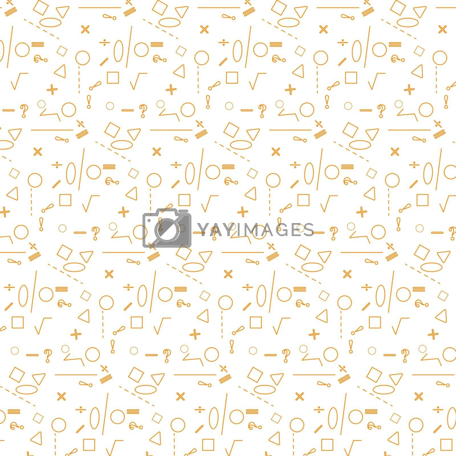 Royalty free image of Geometric pattern with mathematical and geometric symbols by Grommik