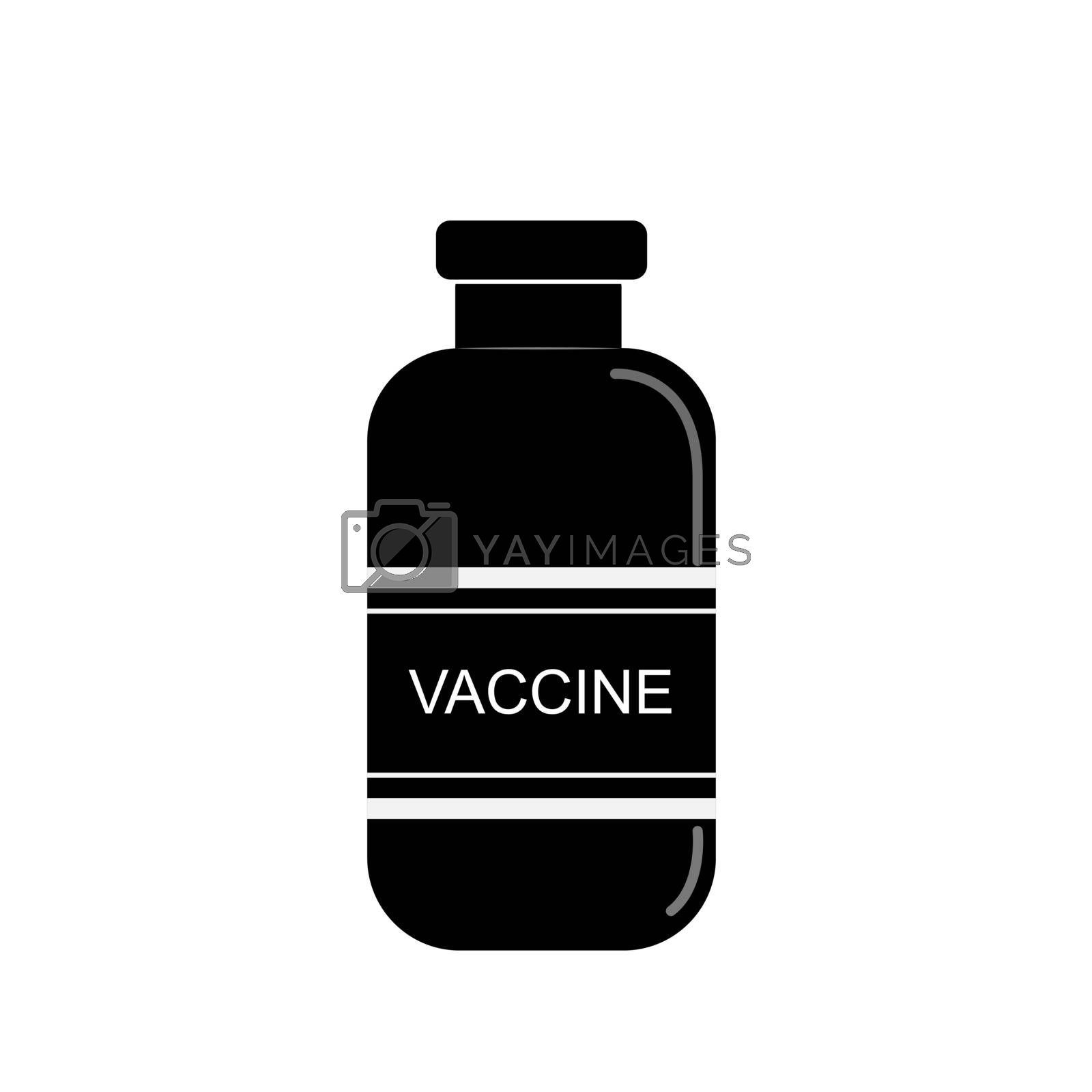 vaccine bottle, flat design, simple pattern for design and decoration