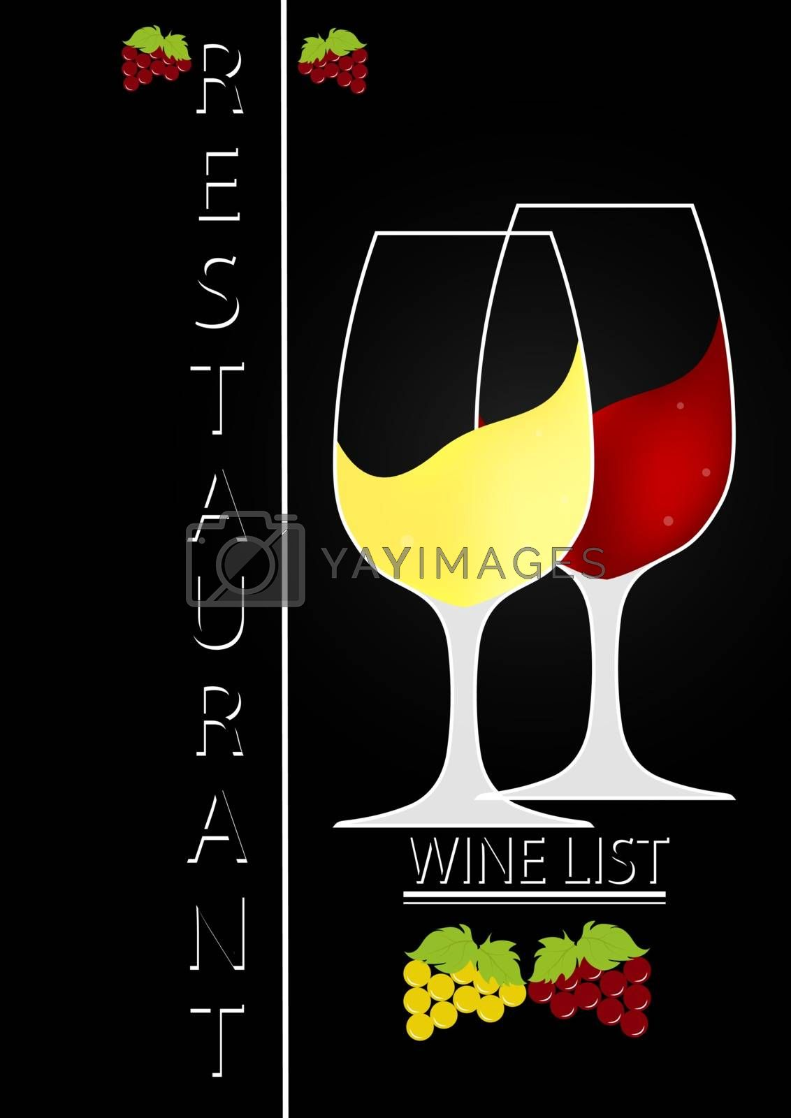 Royalty free image of Logo design for wine list of a restaurant or bar by Grommik