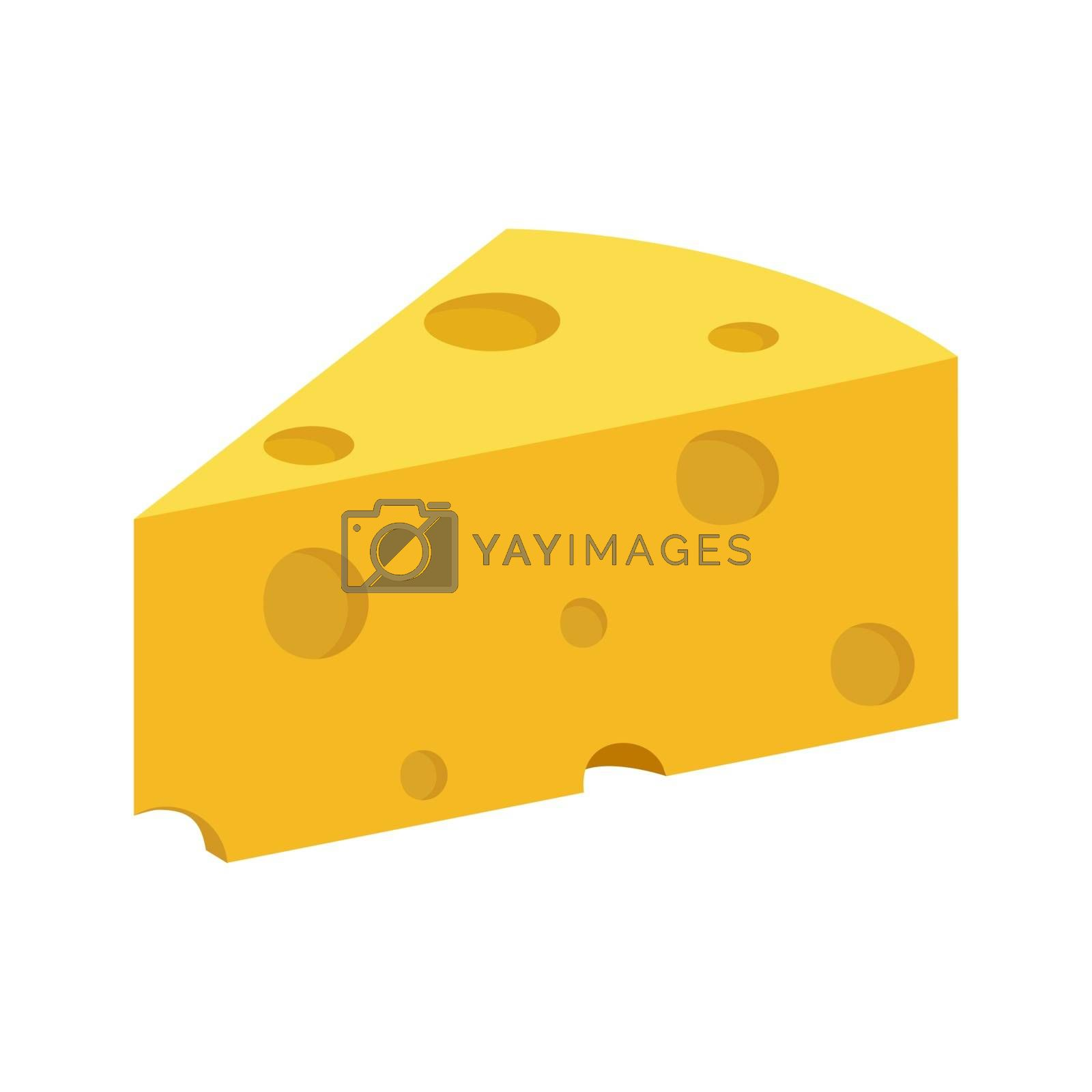 piece of cheese, a dairy product, a simple color image