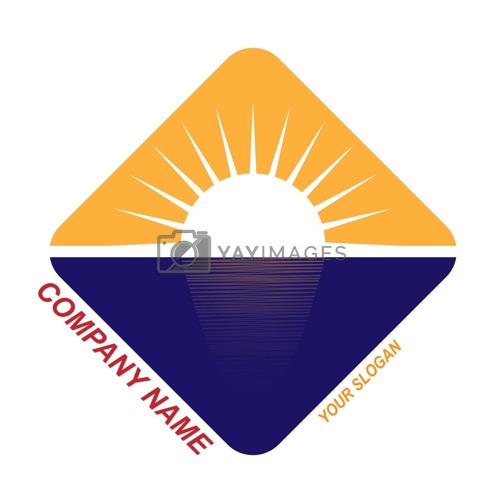 template for travel company logo, travel company, flat design
