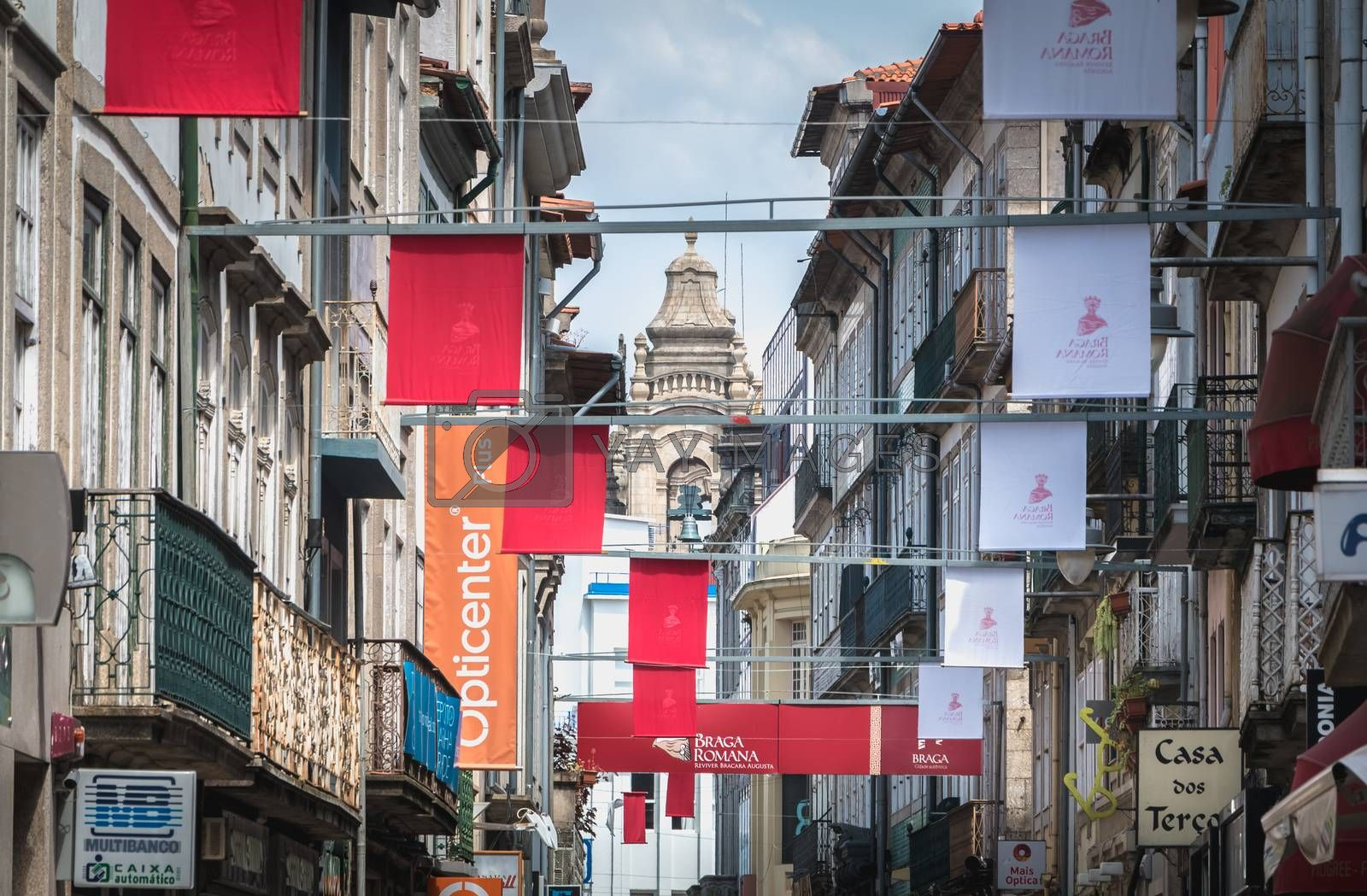 View of a street in the historic city center decorated for the c by AtlanticEUROSTOXX
