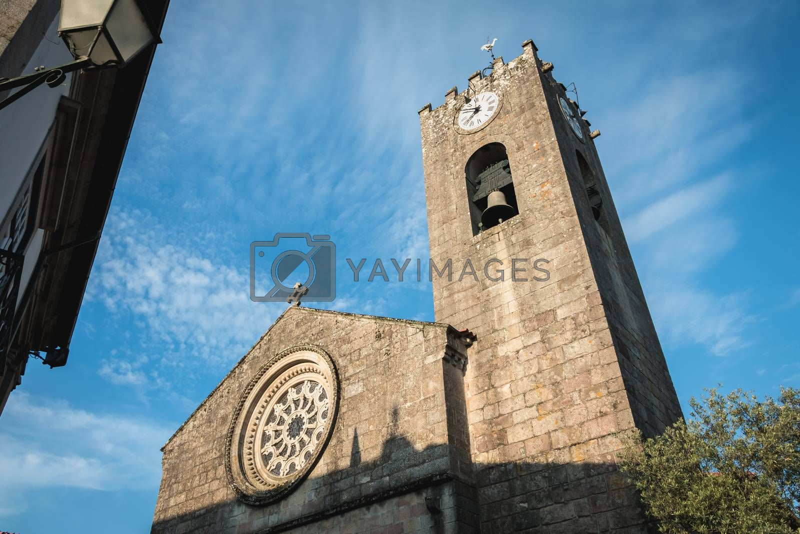 architecture detail of Mother Church Ponte de Lima on a spring day