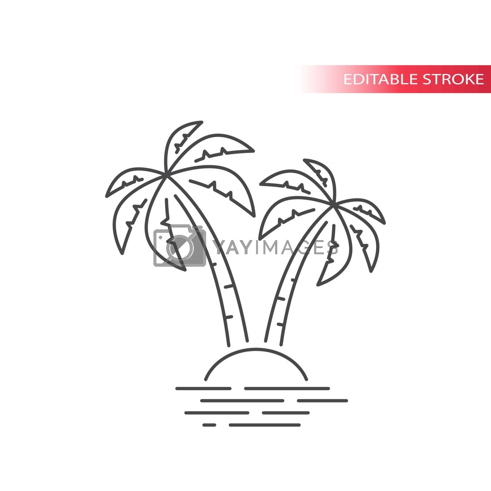Outline, editable stroke vector.