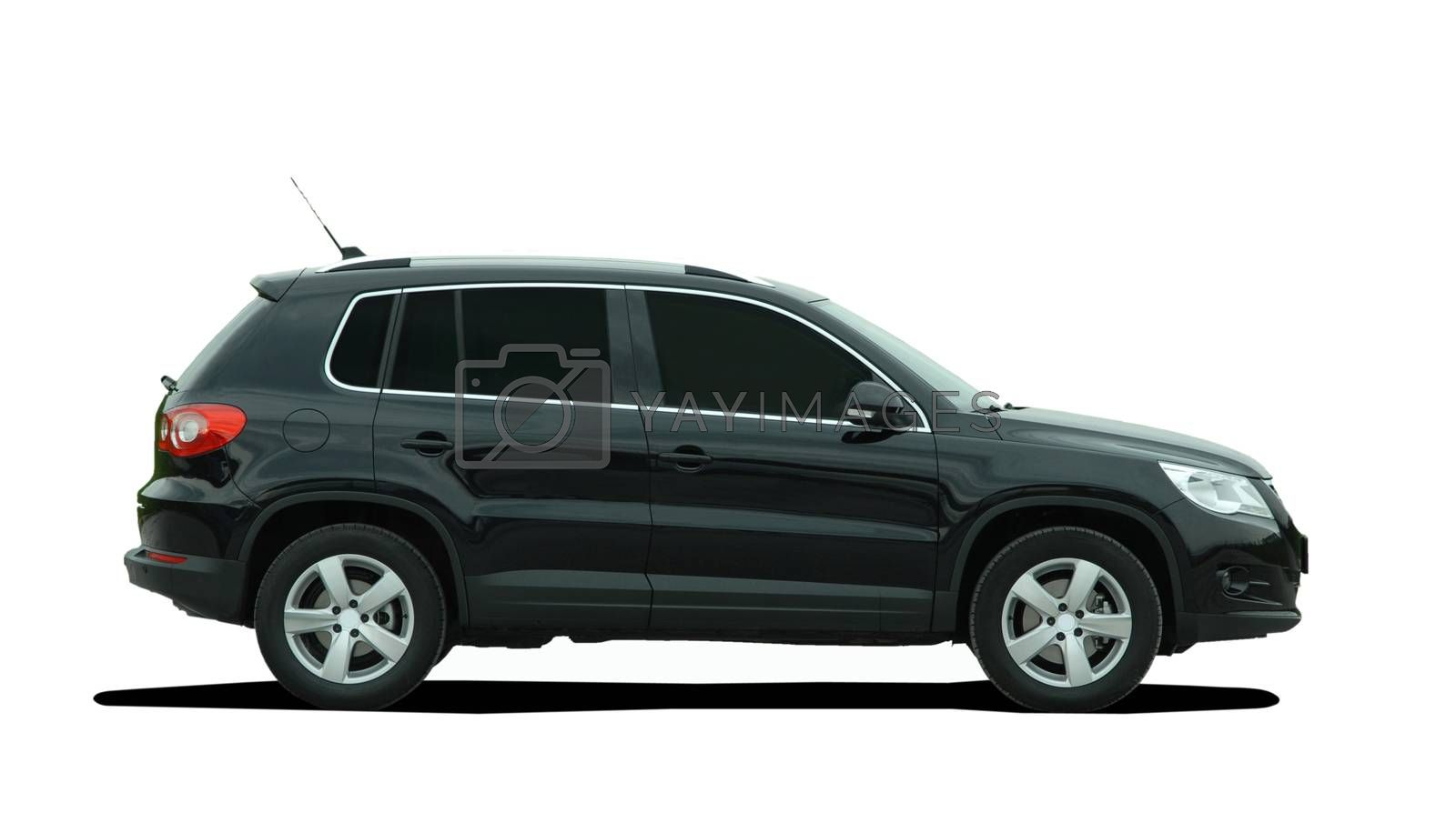SUV on a white background
