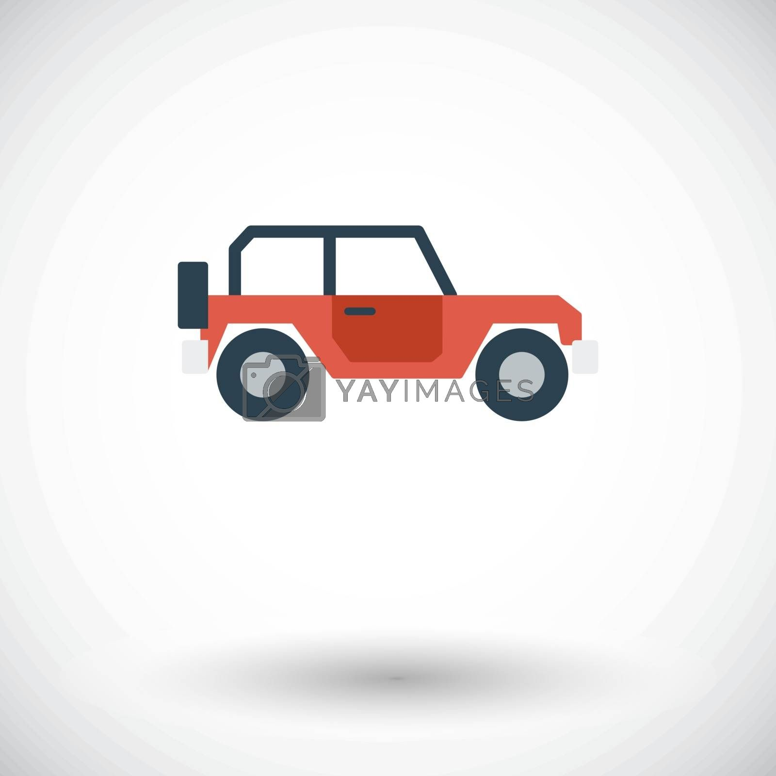 Offroad car. Flat vector icon for mobile and web applications. Vector illustration.