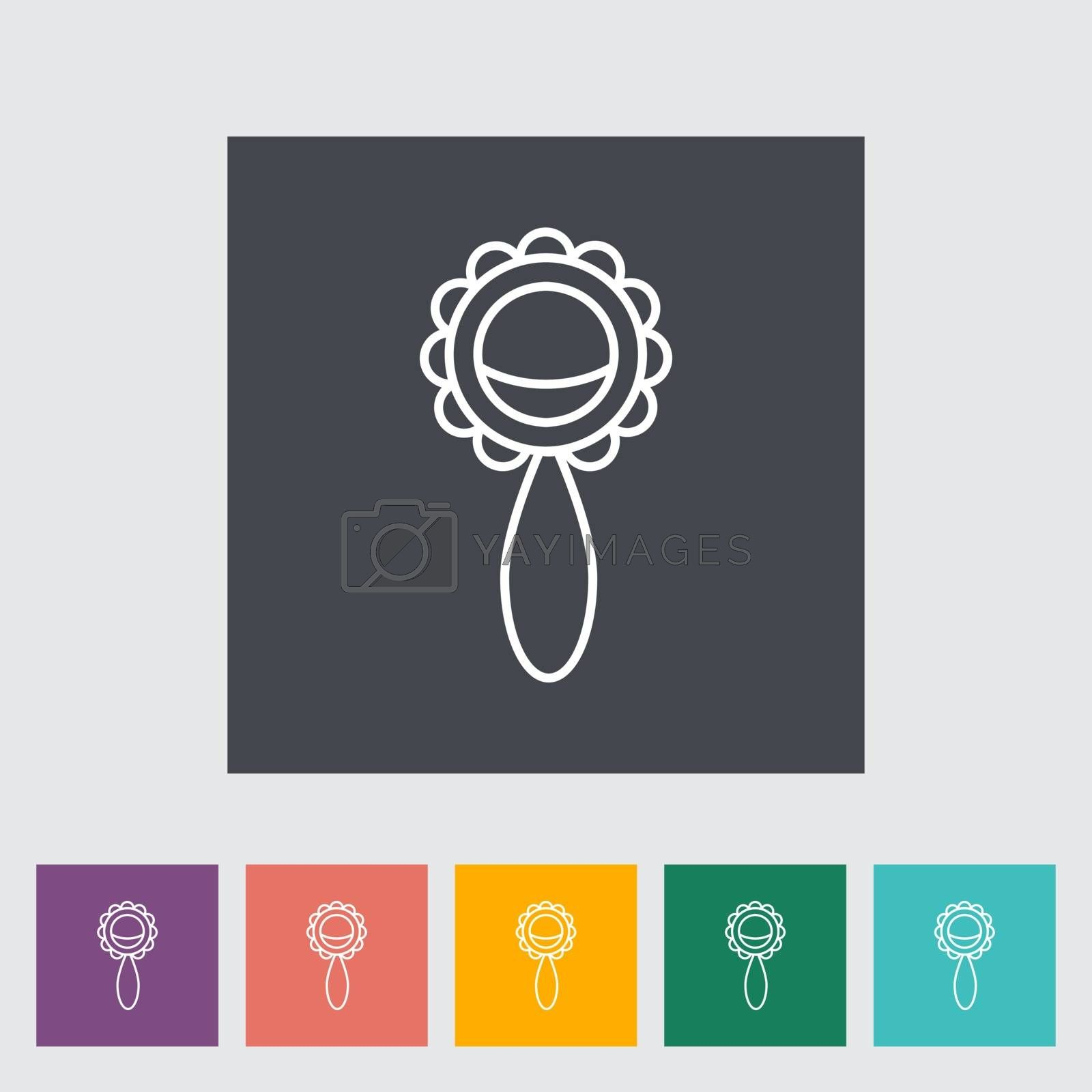Rattle thin line flat vector related icon set for web and mobile applications. It can be used as - logo, pictogram, icon, infographic element. Vector Illustration.