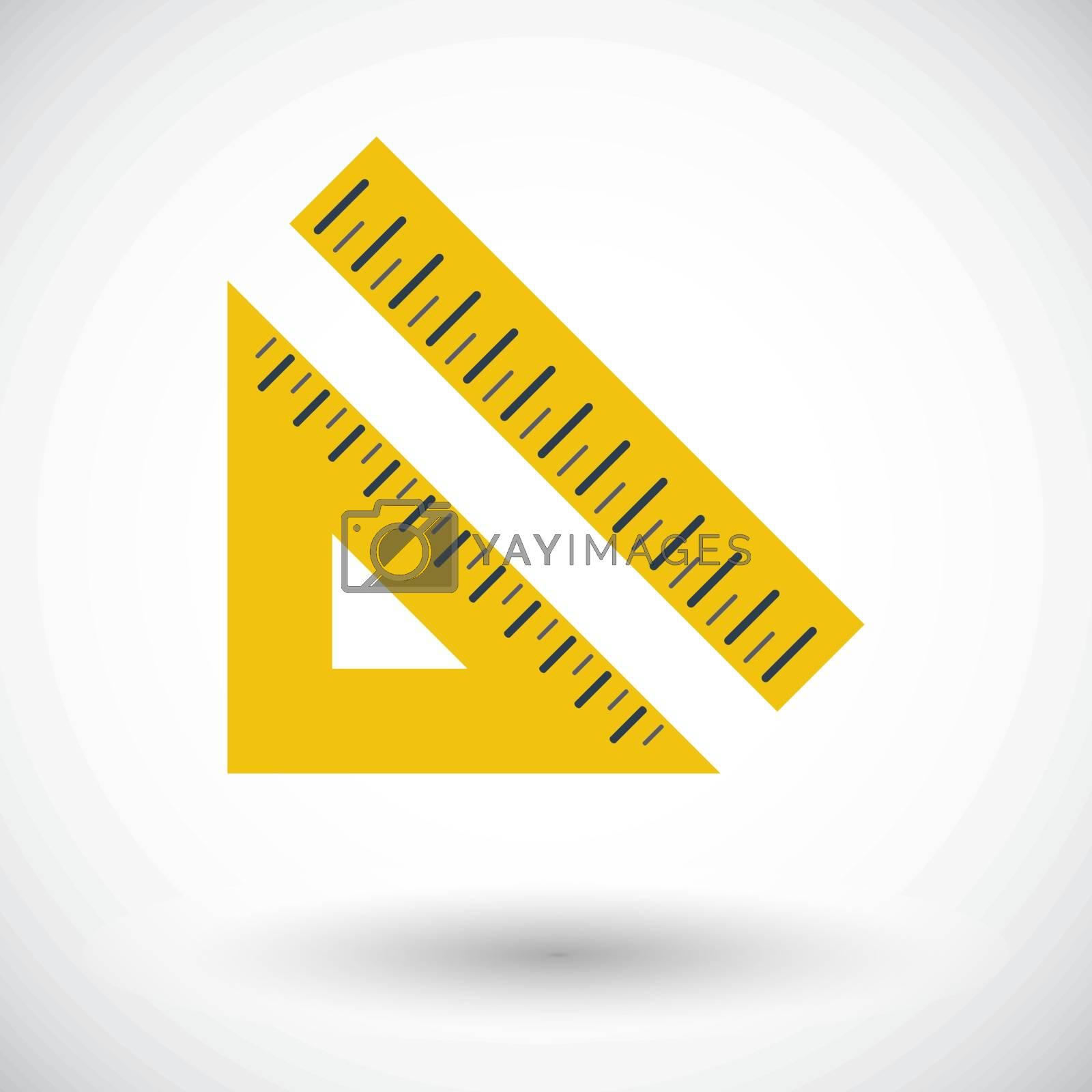 Straightedge. Single flat icon on white background. Vector illustration.