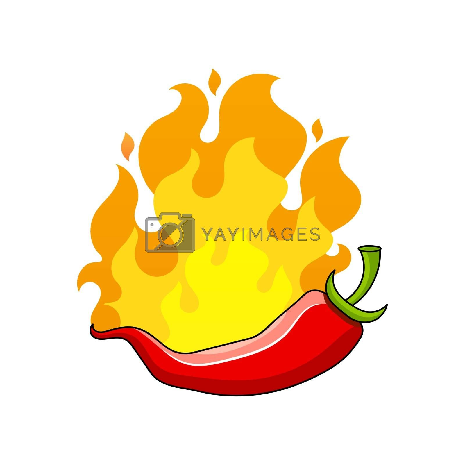 Poster hot chili pepper vector illustration Suitable For Greeting Card, Poster Or T-shirt Printing.