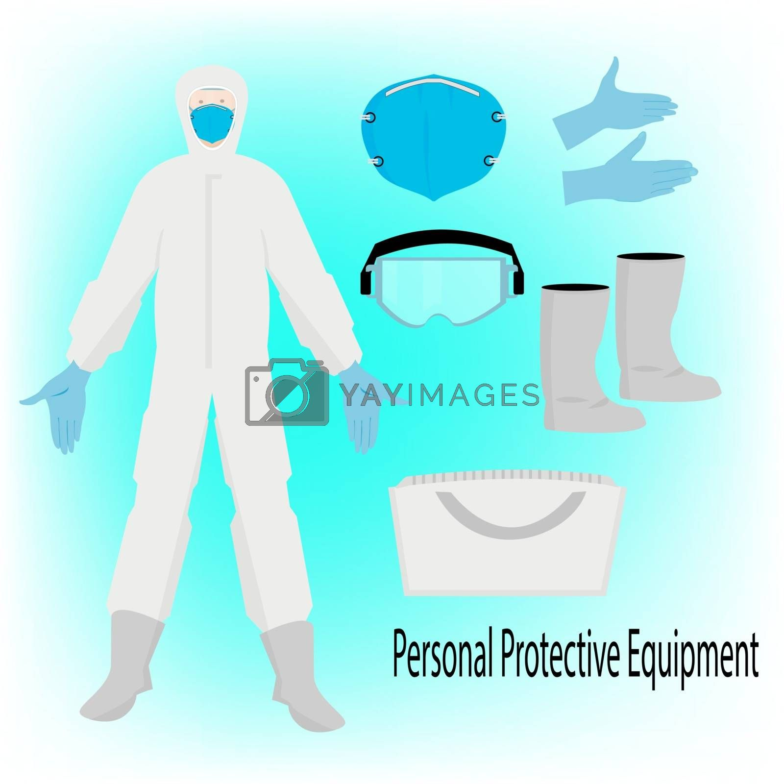 hazmat suit ,personal protective equipment,for safety