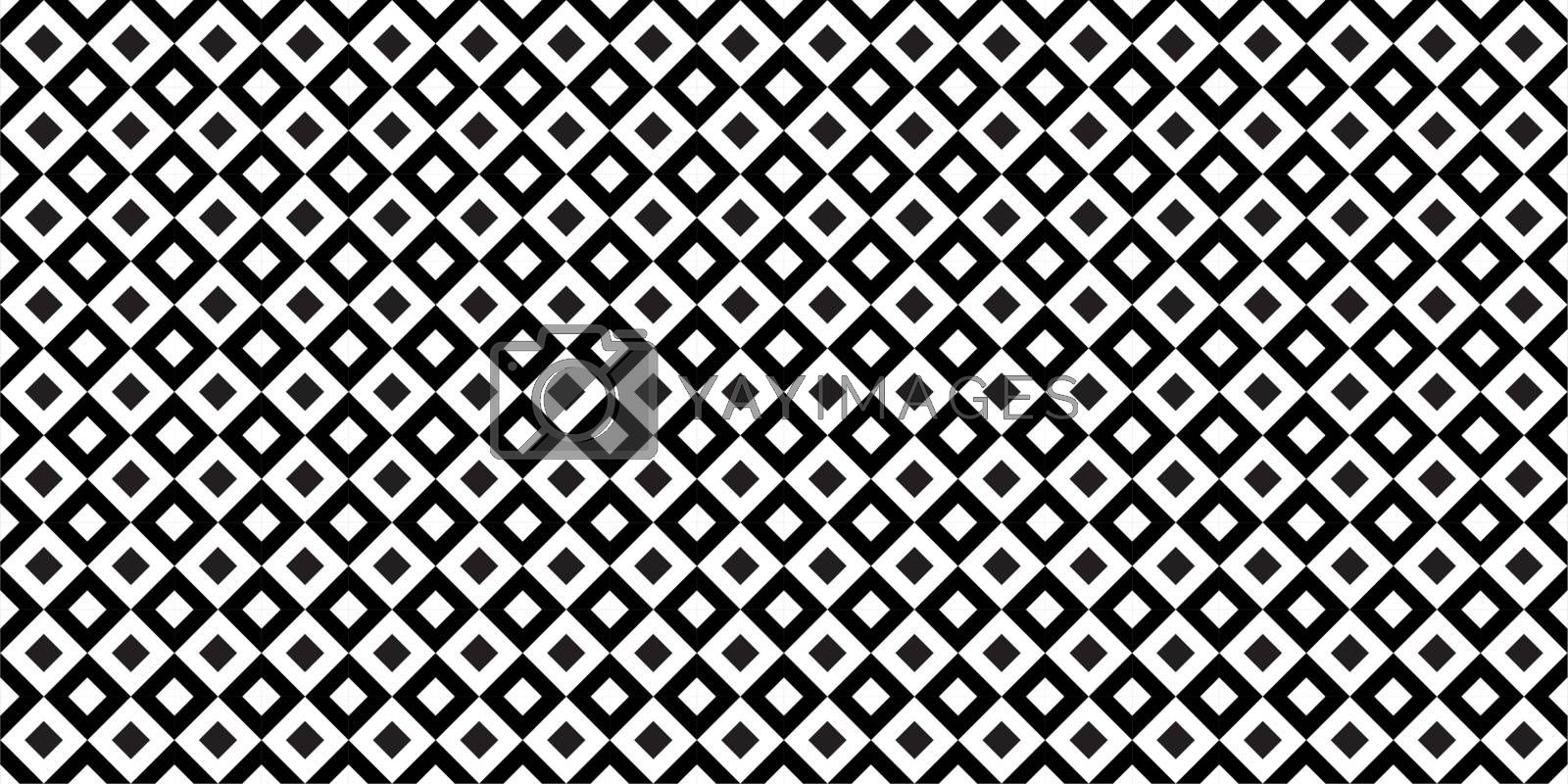 Black And White Seamless Pattern Vector Illustration