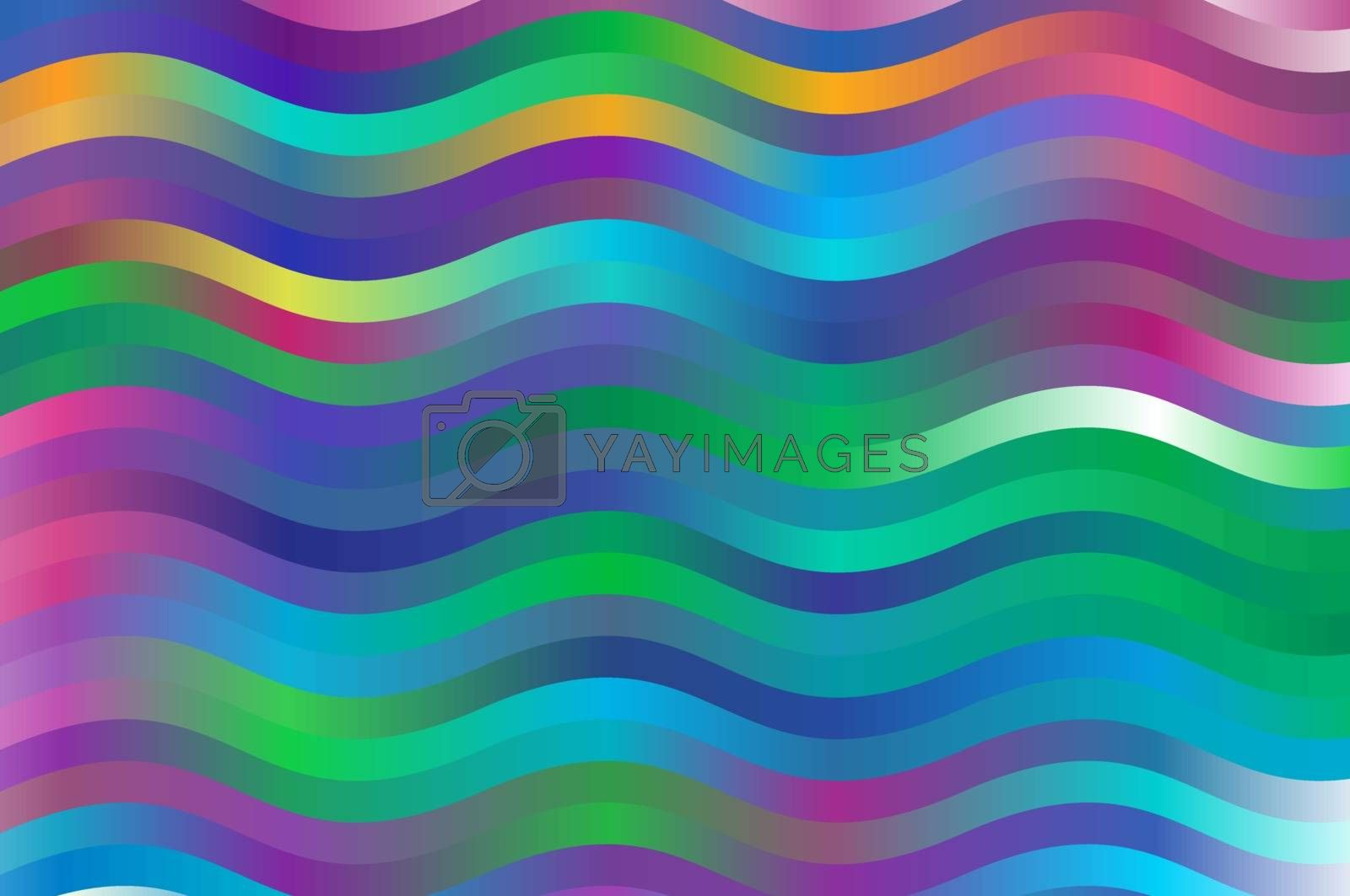 colorful waves blue magenta and green background